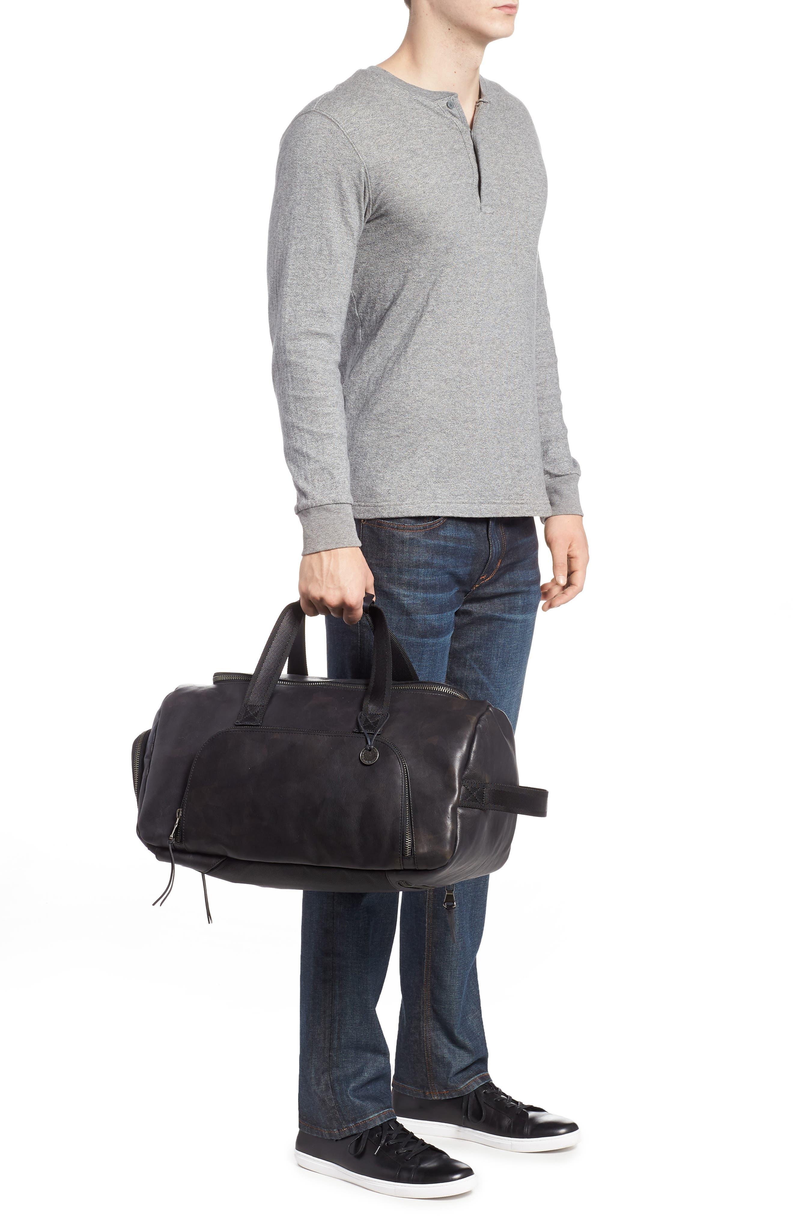 Brooklyn Suede Convertible Duffel Bag,                             Alternate thumbnail 4, color,
