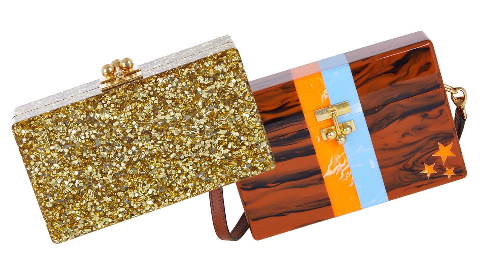 Edie Parker handbags.