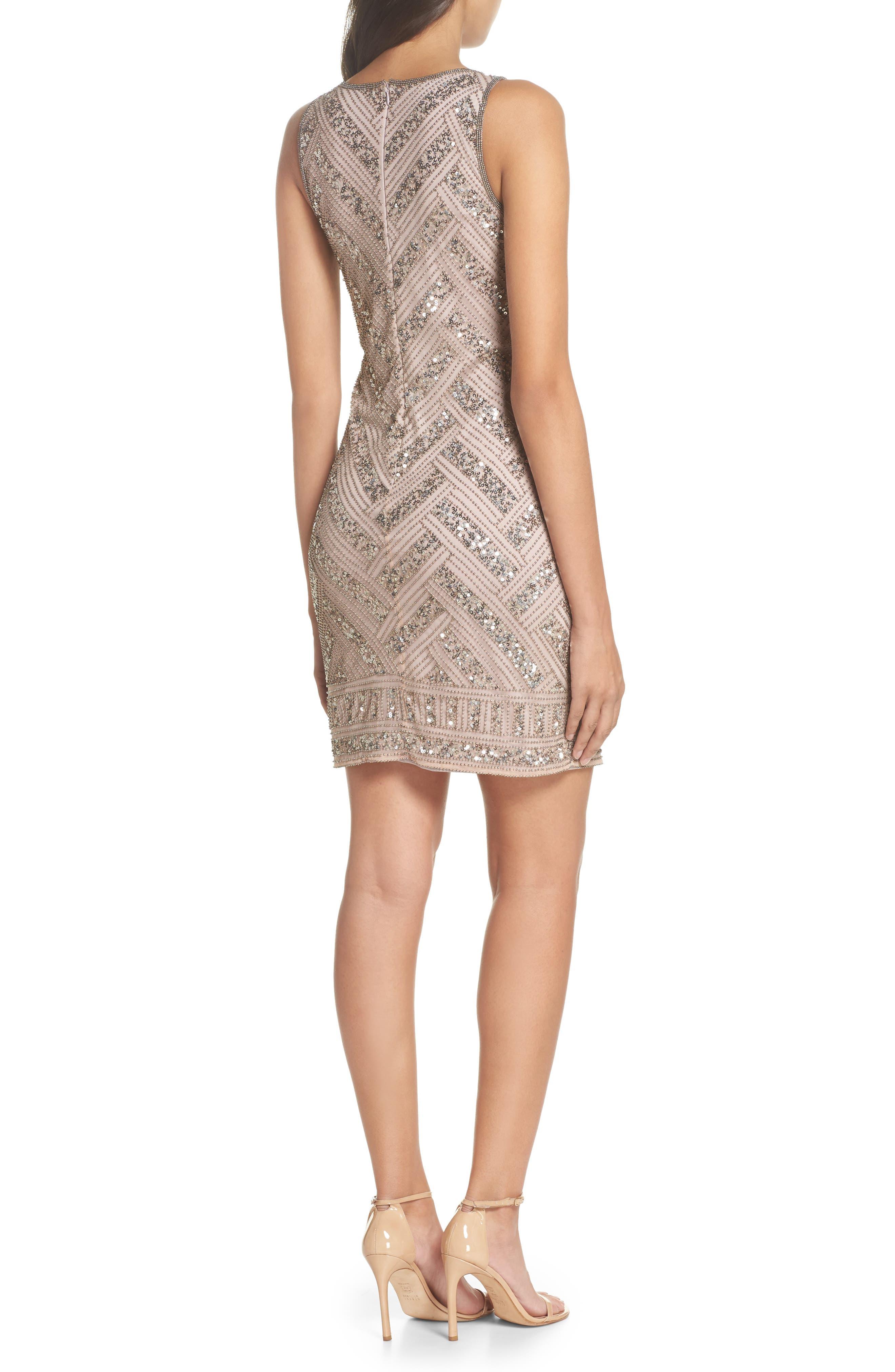 Beaded V-Neck Sheath Dress,                             Alternate thumbnail 2, color,                             LIGHT LAVENDER