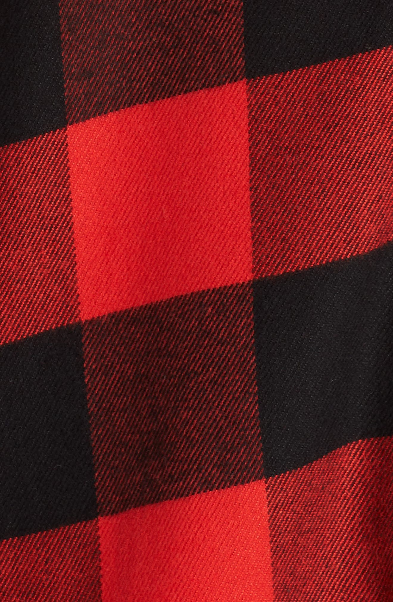 Flannel Nightshirt,                             Alternate thumbnail 5, color,                             RED BLOOM LARGE BUFFALO CHECK