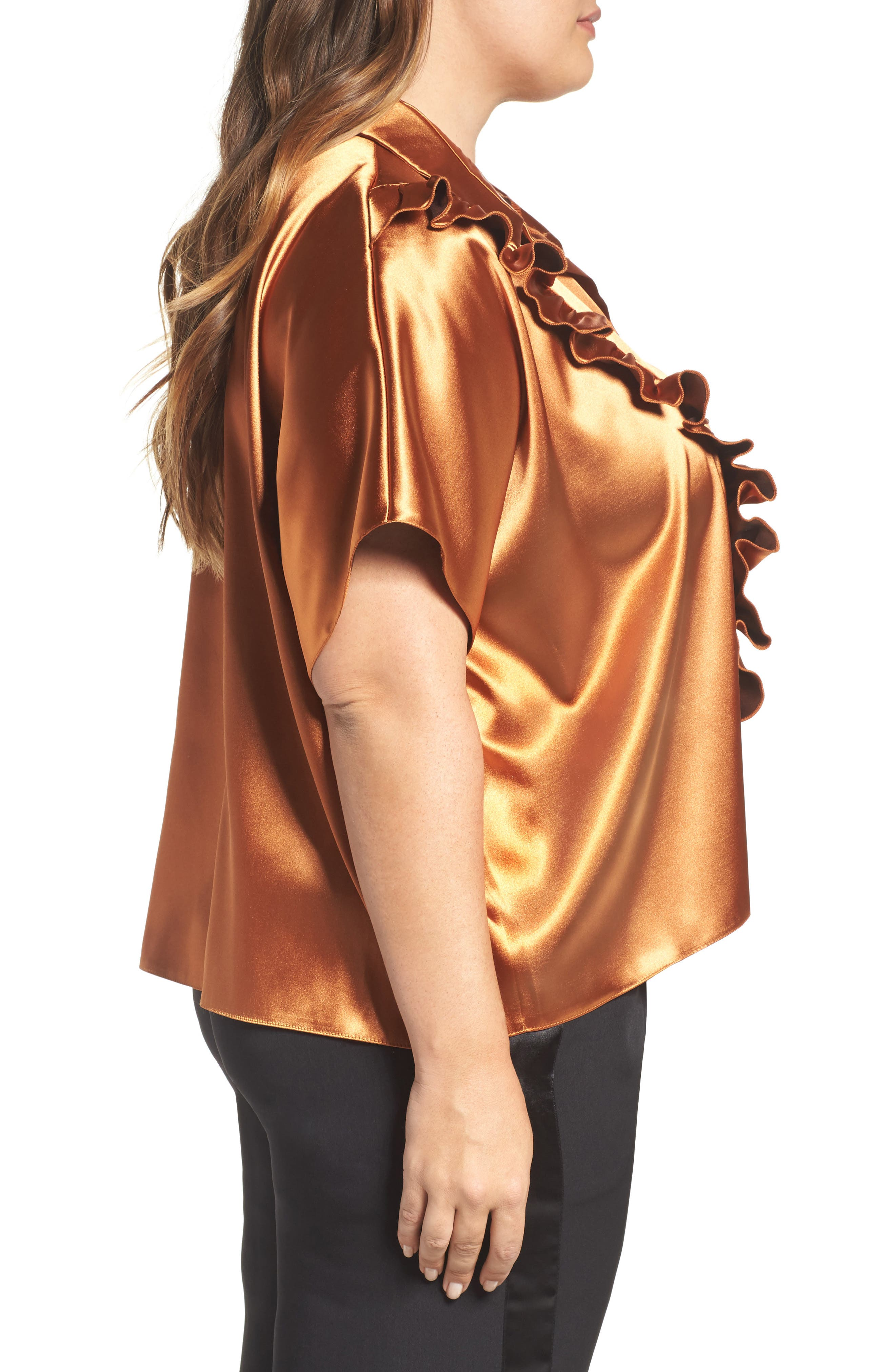 Copper Frill Shirt,                             Alternate thumbnail 3, color,