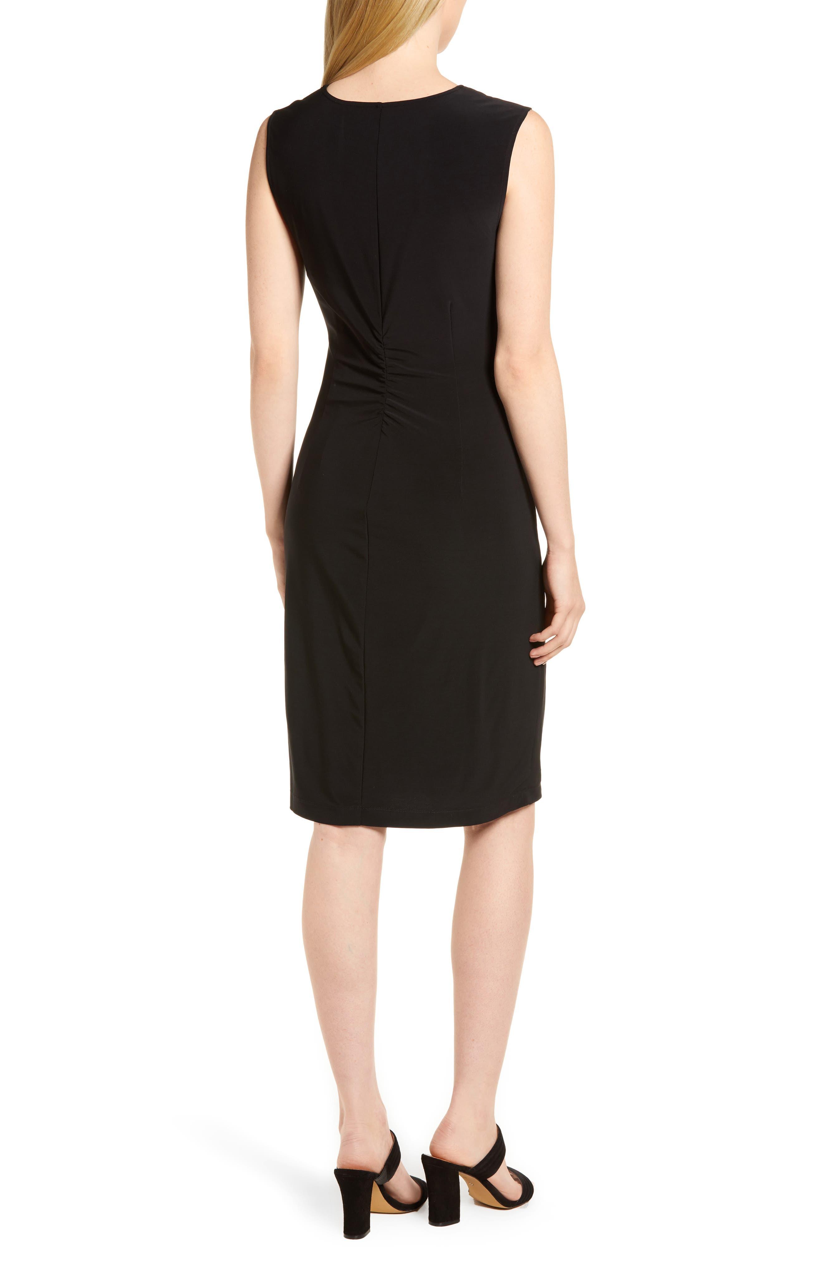 Twist Side Matte Jersey Dress,                             Alternate thumbnail 2, color,                             004