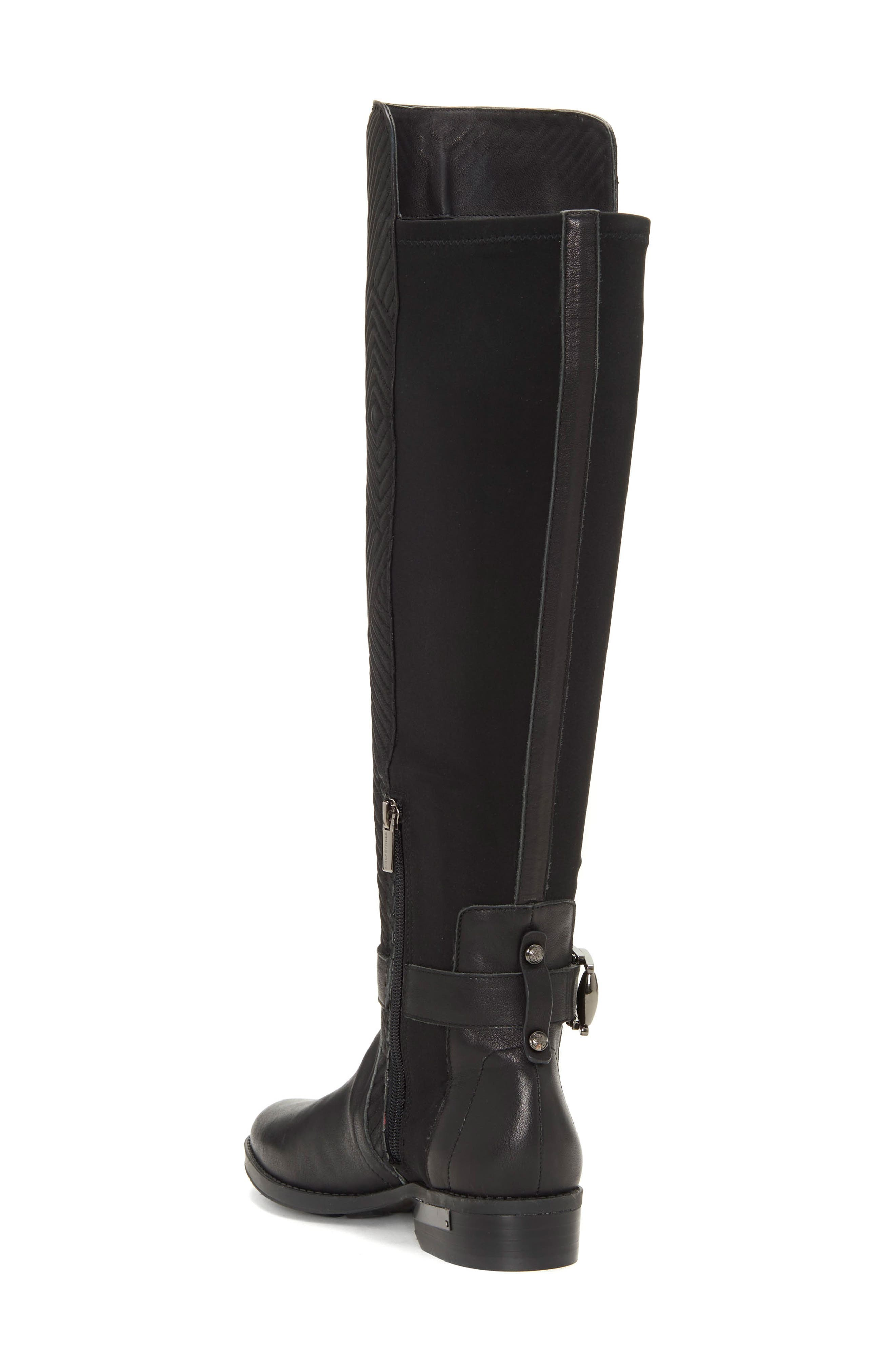Pordalia Over-the-Knee Boot,                             Alternate thumbnail 2, color,                             BLACK LEATHER