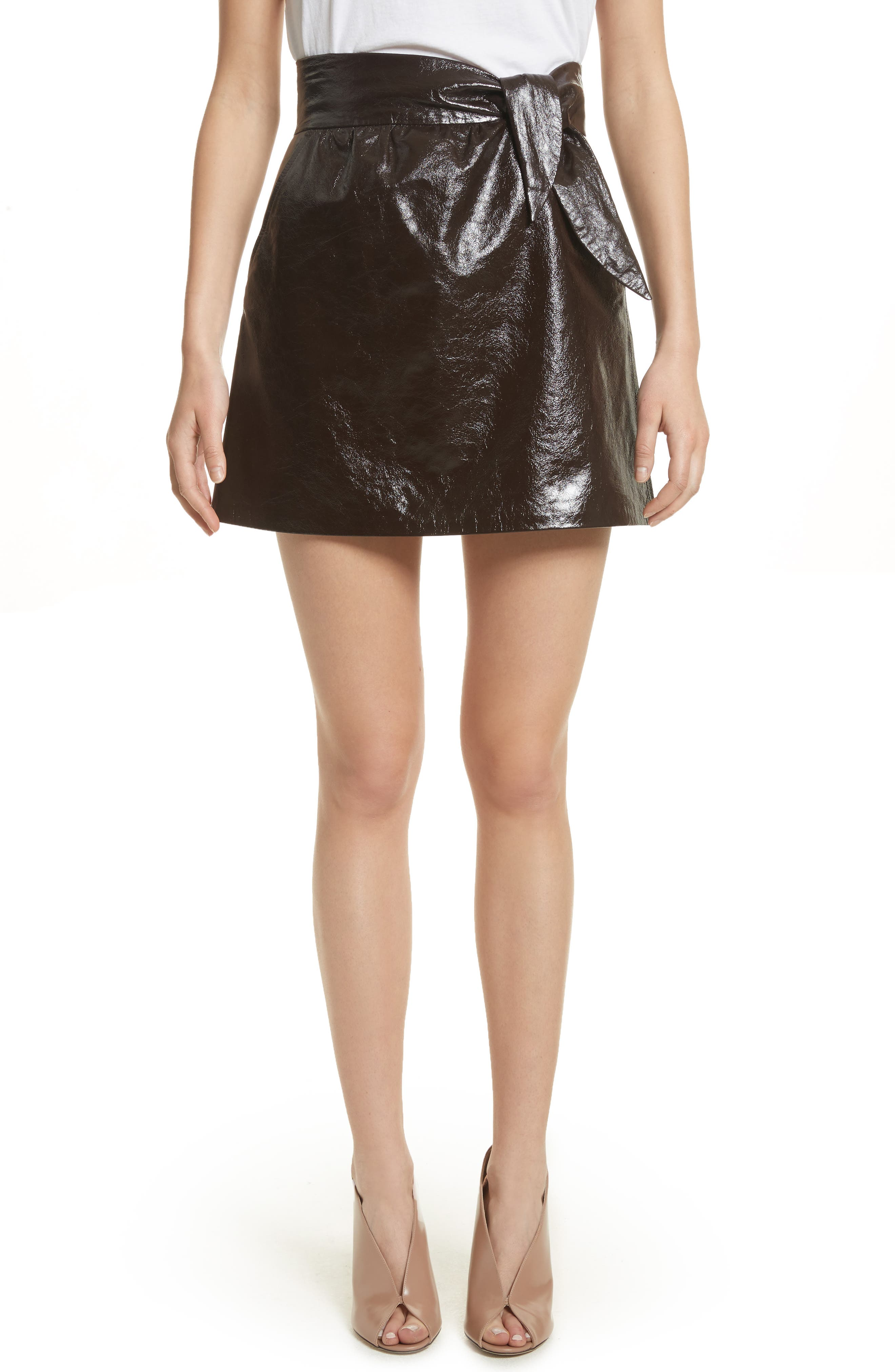 Tate Leather Skirt,                             Main thumbnail 1, color,