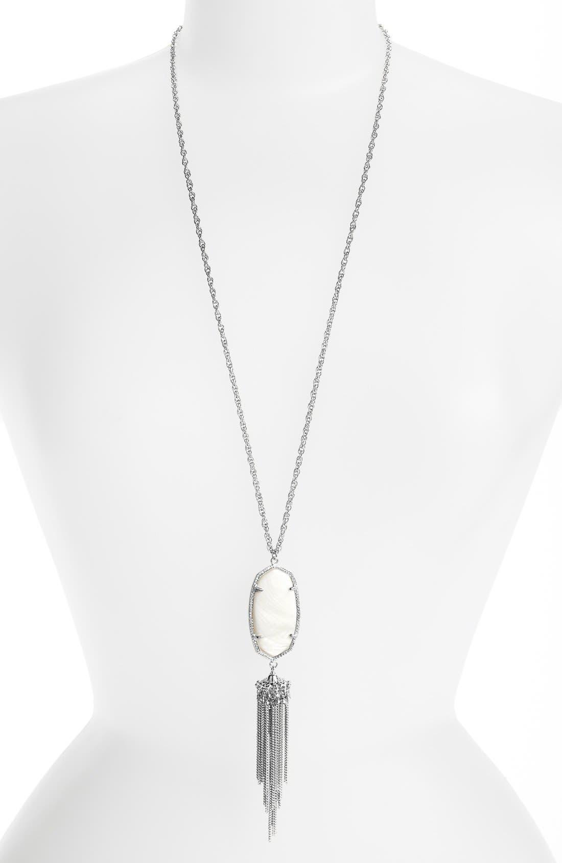 Rayne Stone Tassel Pendant Necklace,                             Main thumbnail 35, color,