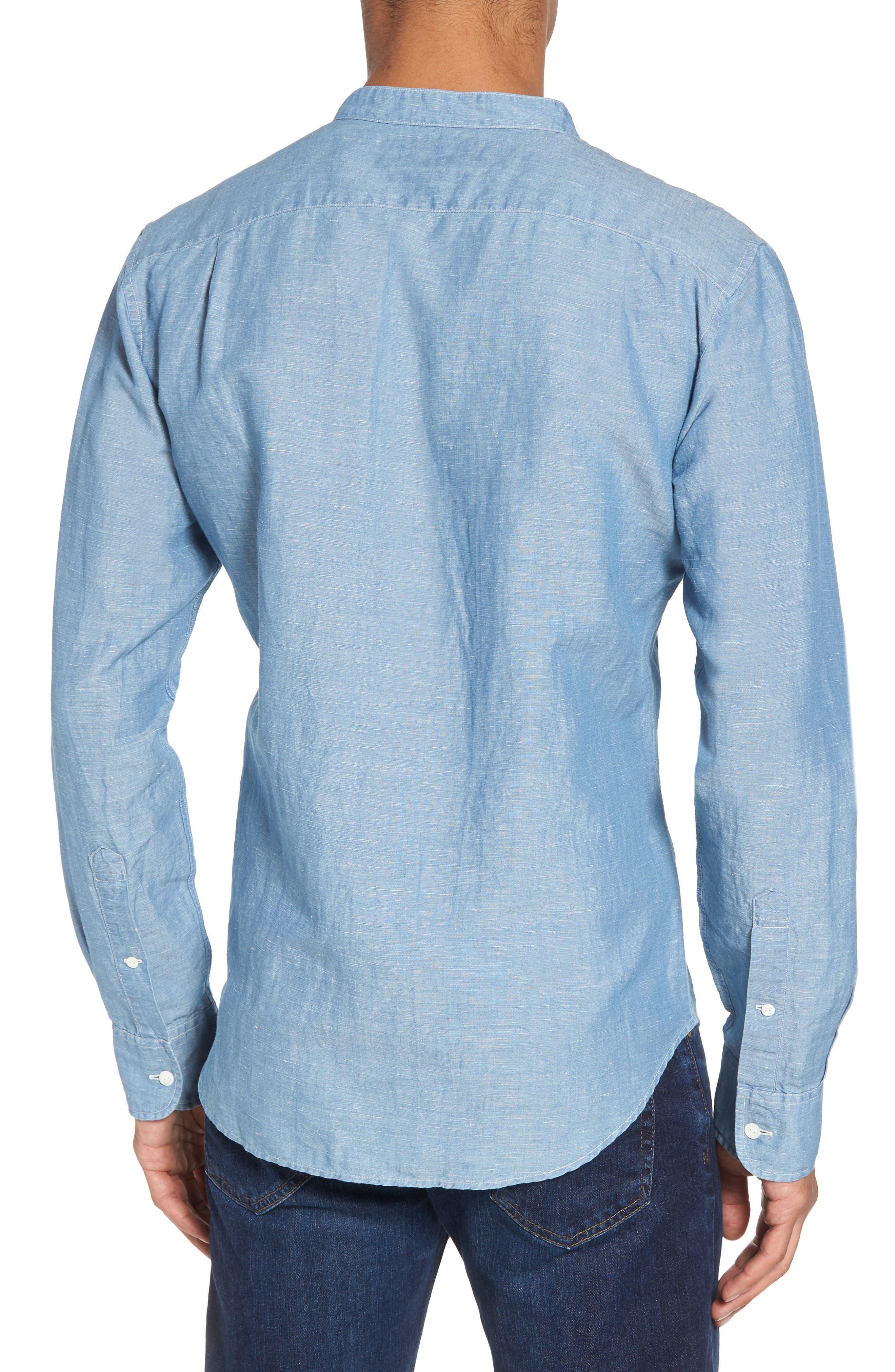 Trim Fit Chambray Sport Shirt,                             Alternate thumbnail 2, color,                             400
