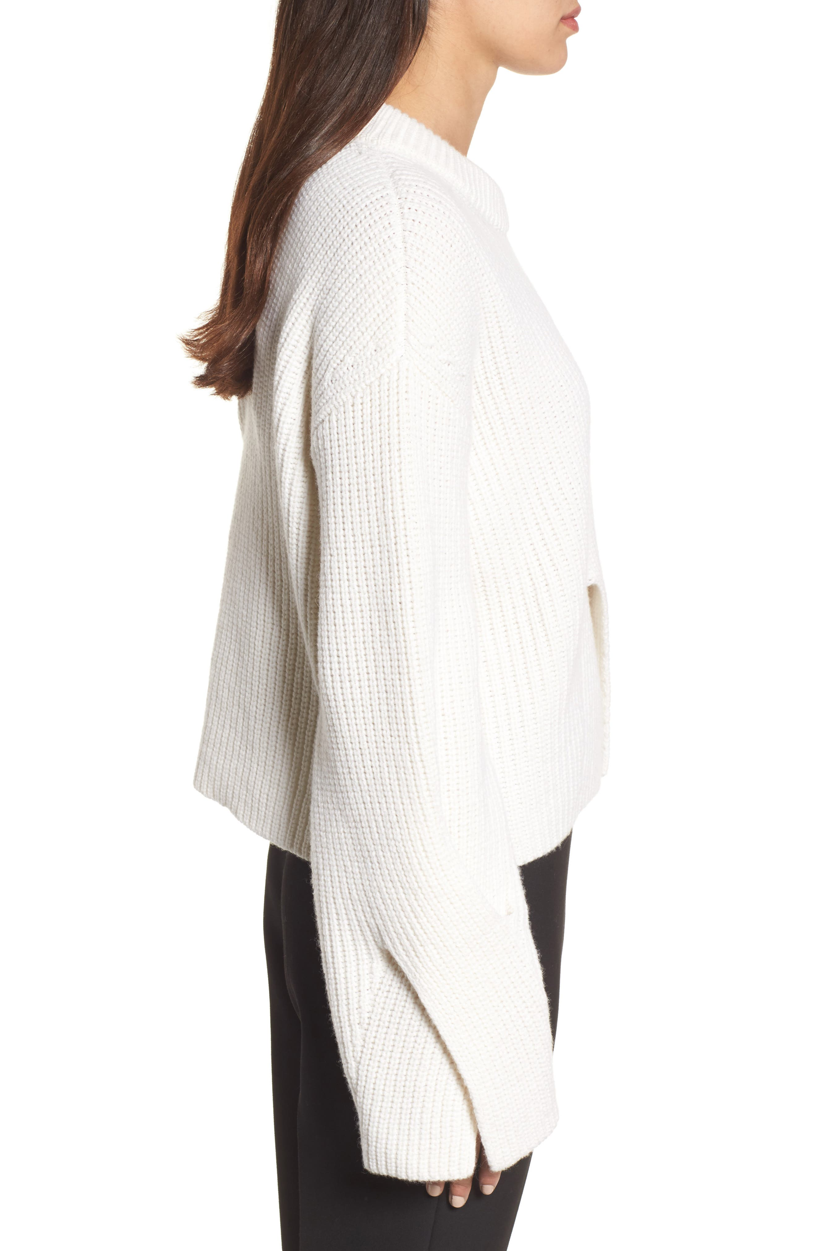 Fihra Wool Blend Sweater,                             Alternate thumbnail 3, color,                             252