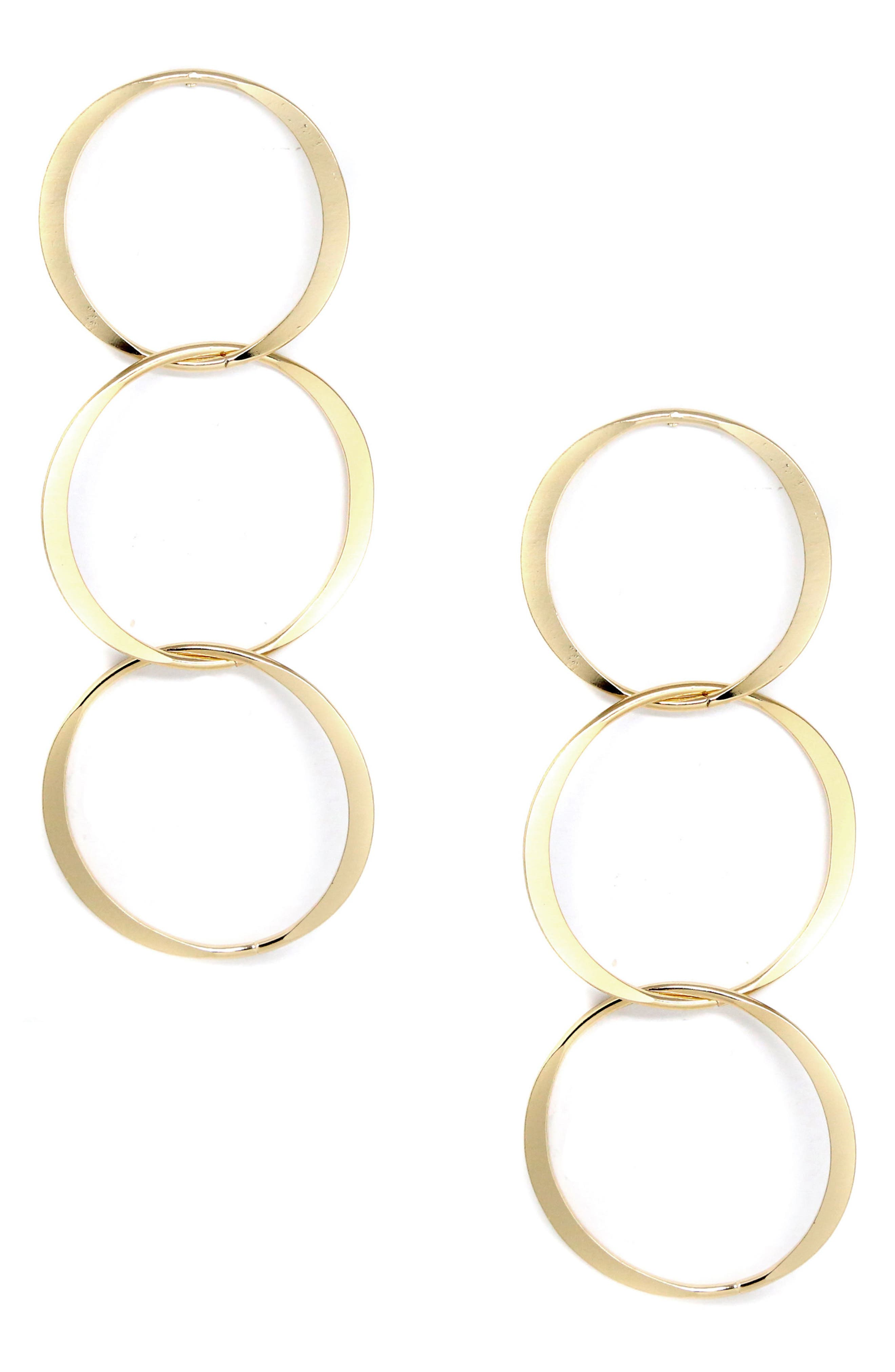 Triple Gold Hoop Earrings,                             Main thumbnail 1, color,                             710