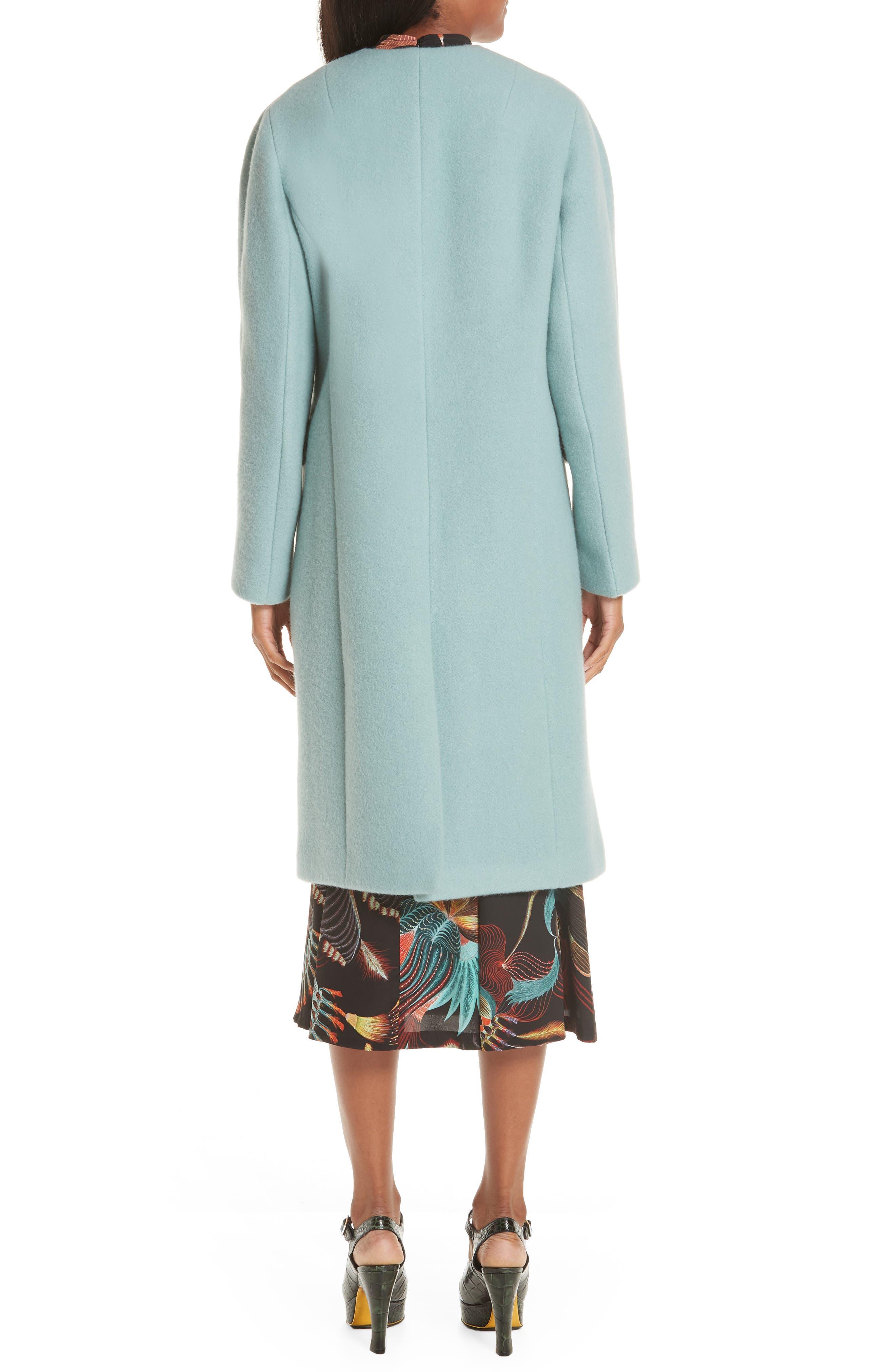Wool & Mohair Coat,                             Alternate thumbnail 2, color,                             LIGHT BLUE