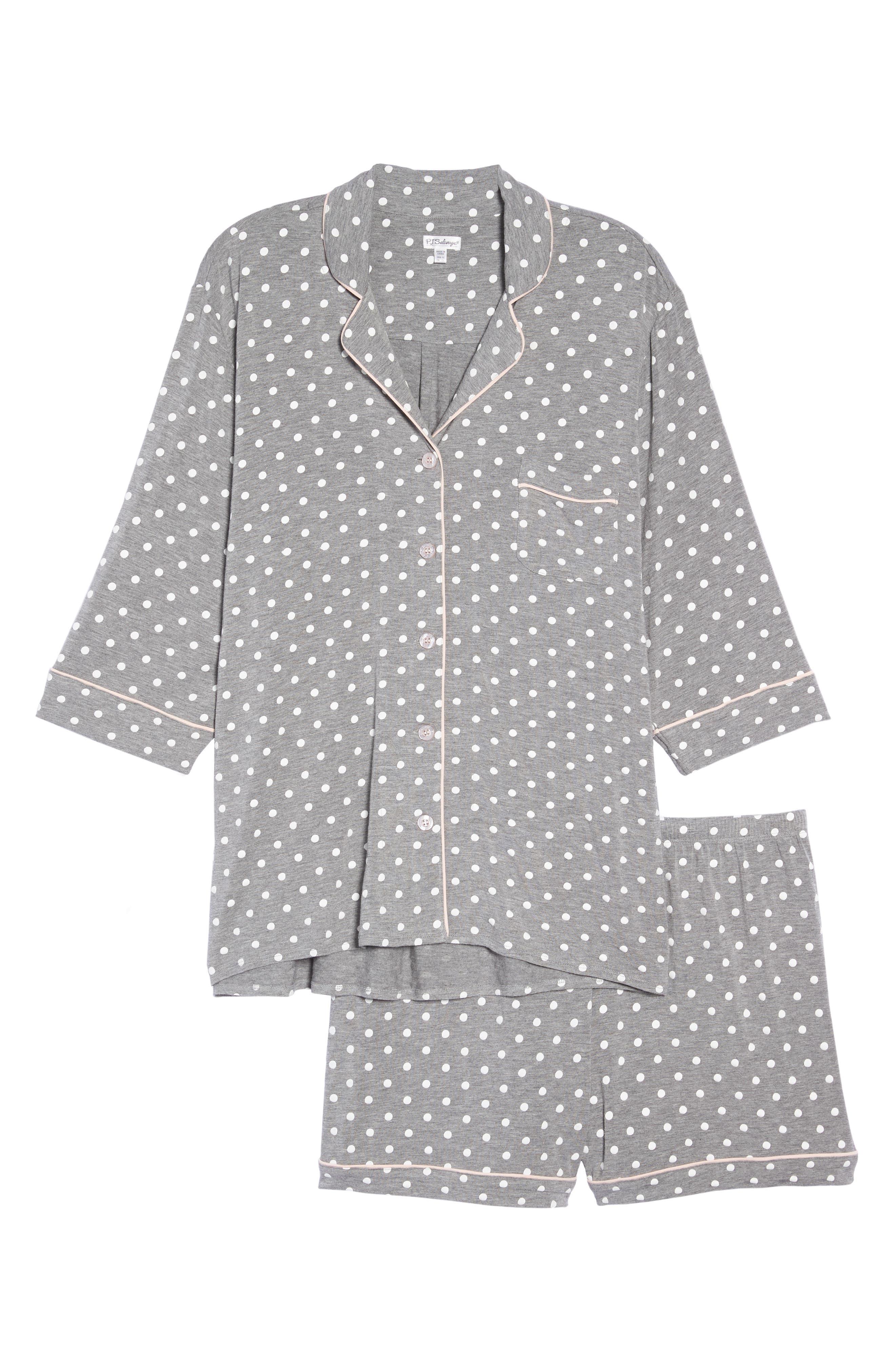 Modal Three-Quarter Sleeve Short Pajamas,                             Alternate thumbnail 6, color,                             027
