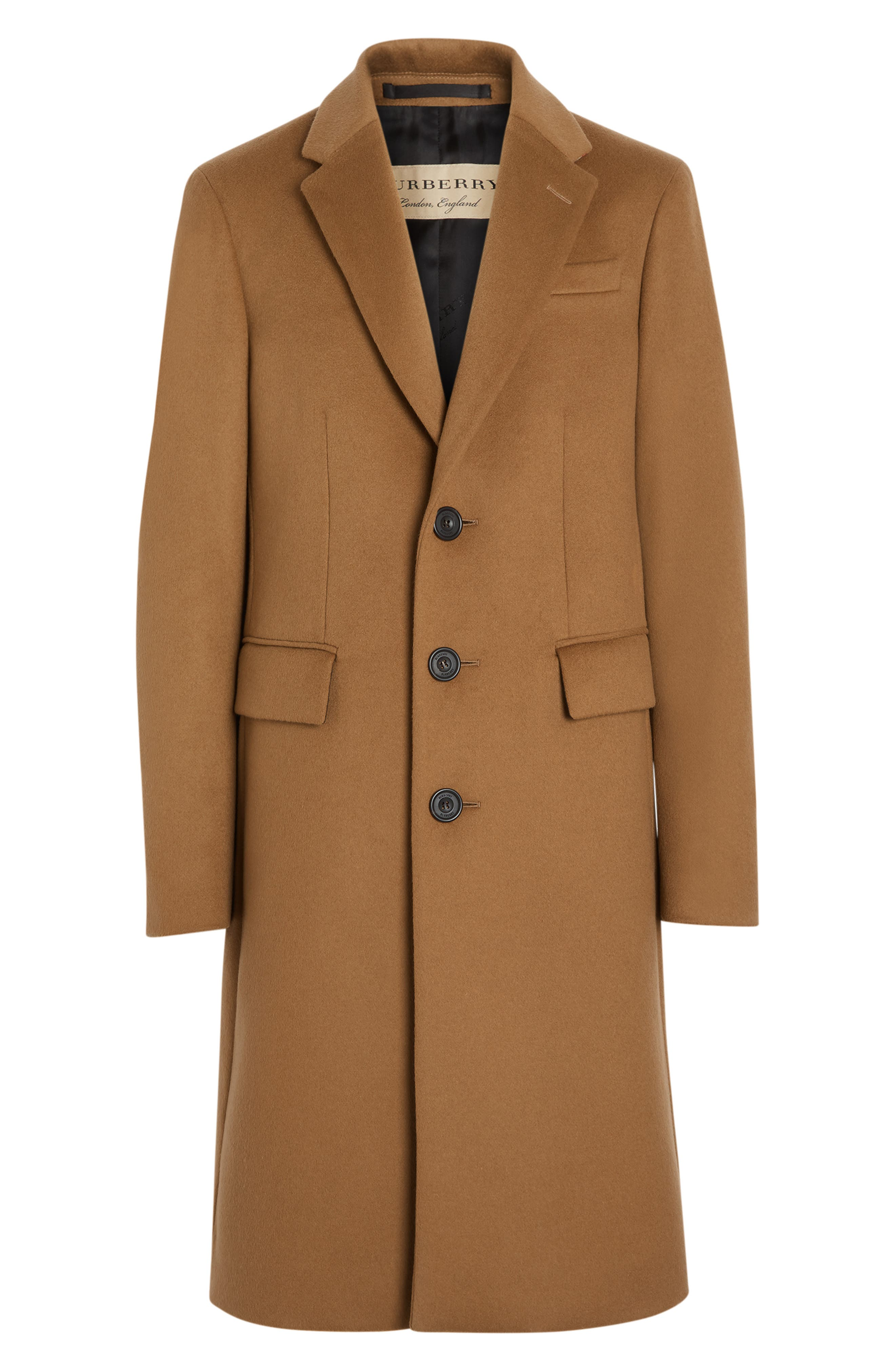 Halesowen Wool and Cashmere Overcoat,                             Alternate thumbnail 5, color,                             DARK CAMEL