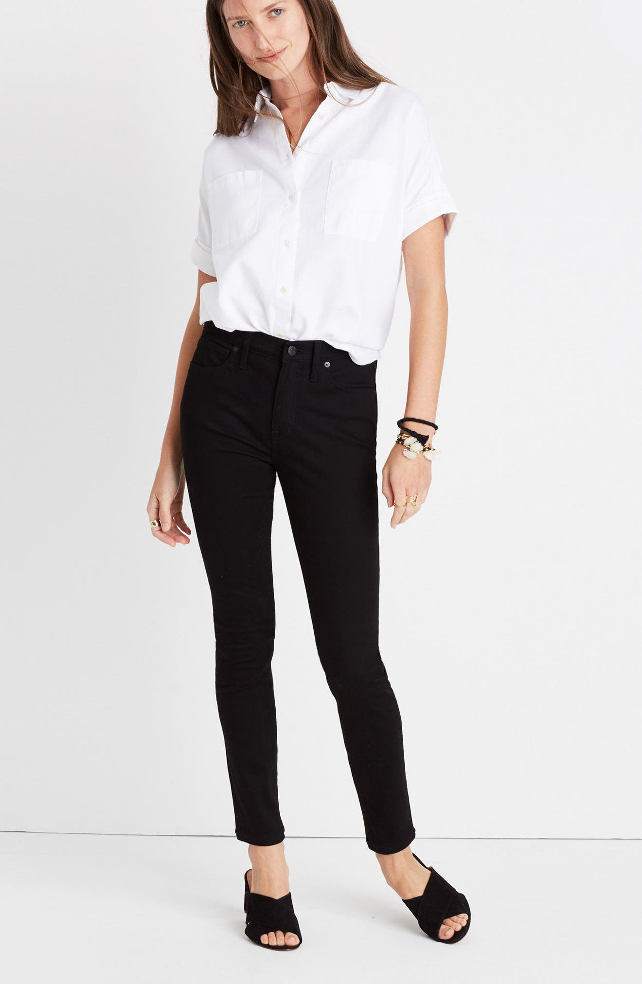 9-Inch High-Rise Skinny Jeans,                             Alternate thumbnail 3, color,                             001