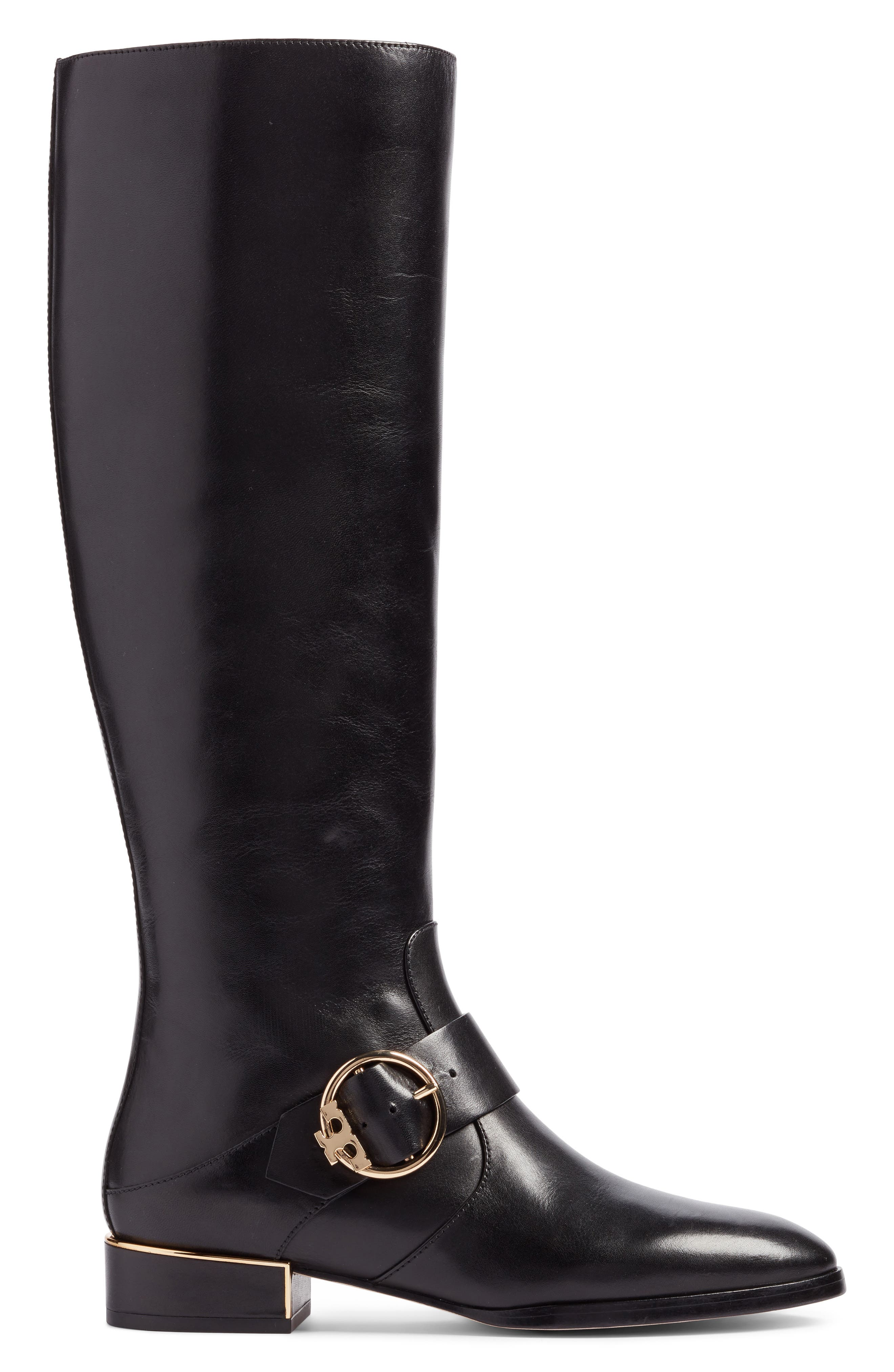 Sofia Buckled Riding Boot,                             Alternate thumbnail 3, color,                             001