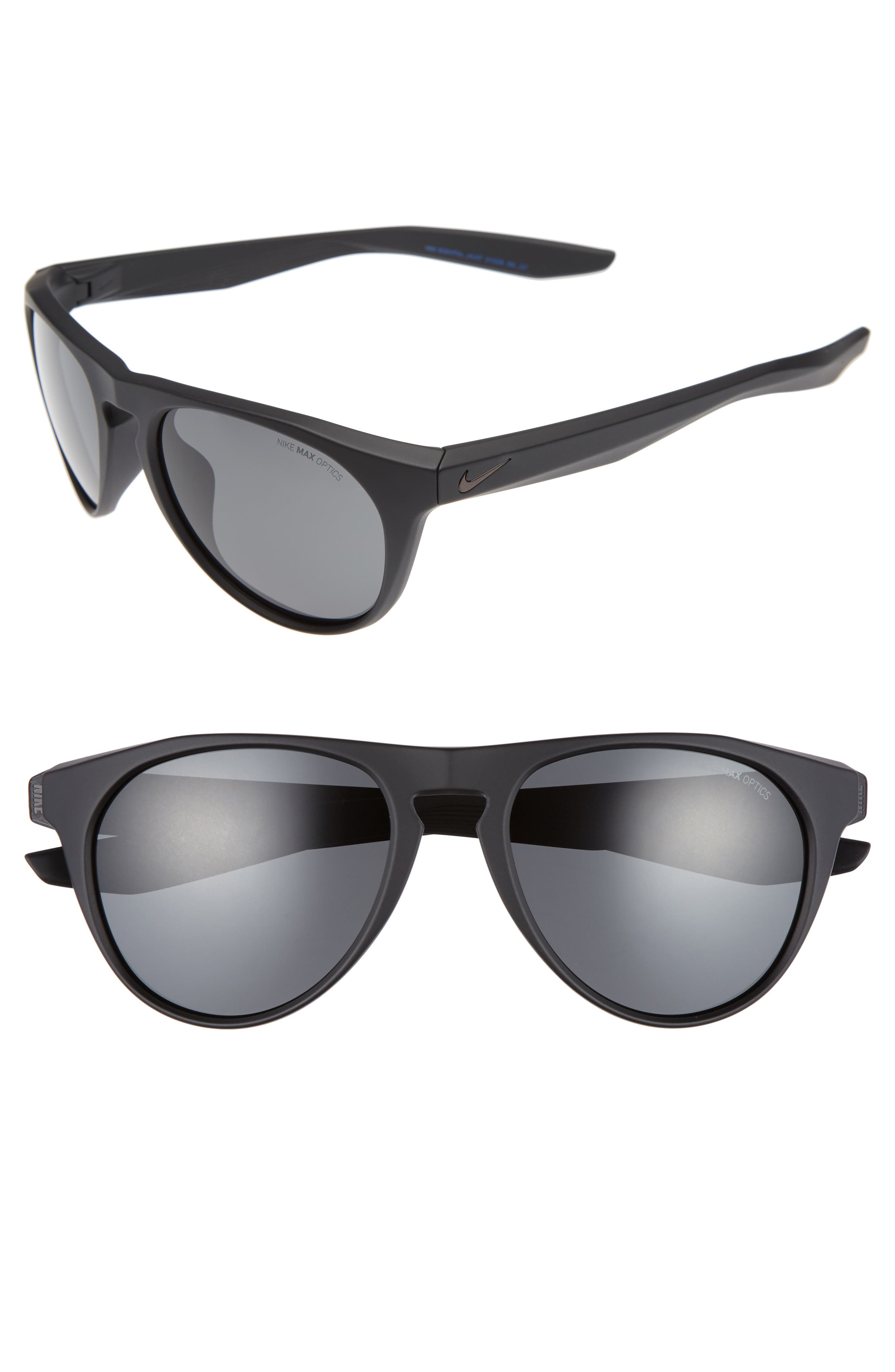 Essential Jaunt 56mm Sunglasses,                             Main thumbnail 1, color,                             MATTE BLACK