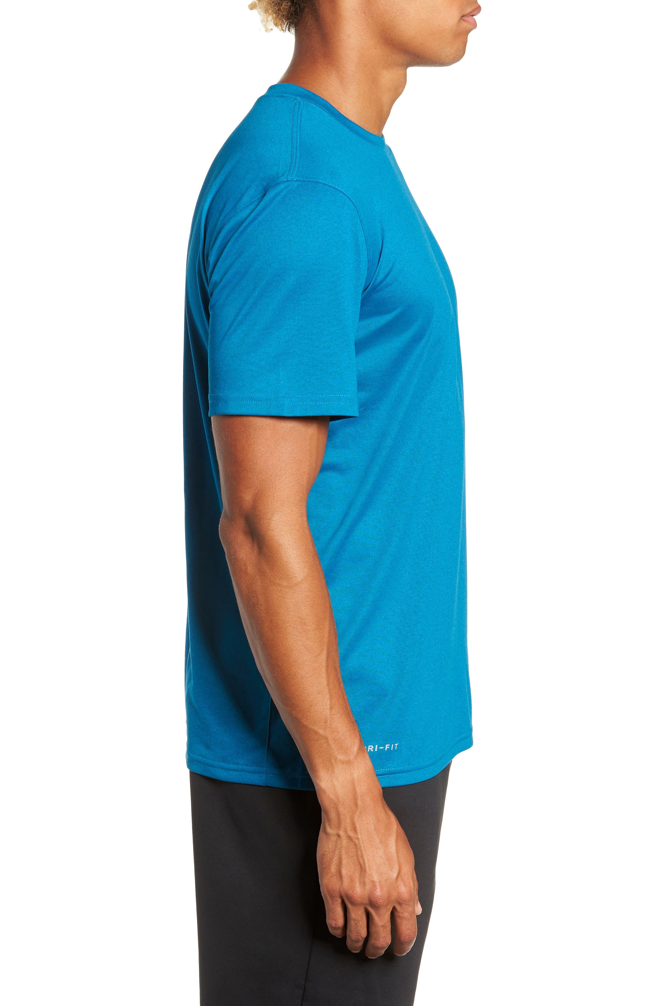 'Legend 2.0' Dri-FIT Training T-Shirt,                             Alternate thumbnail 3, color,                             GREEN ABYSS