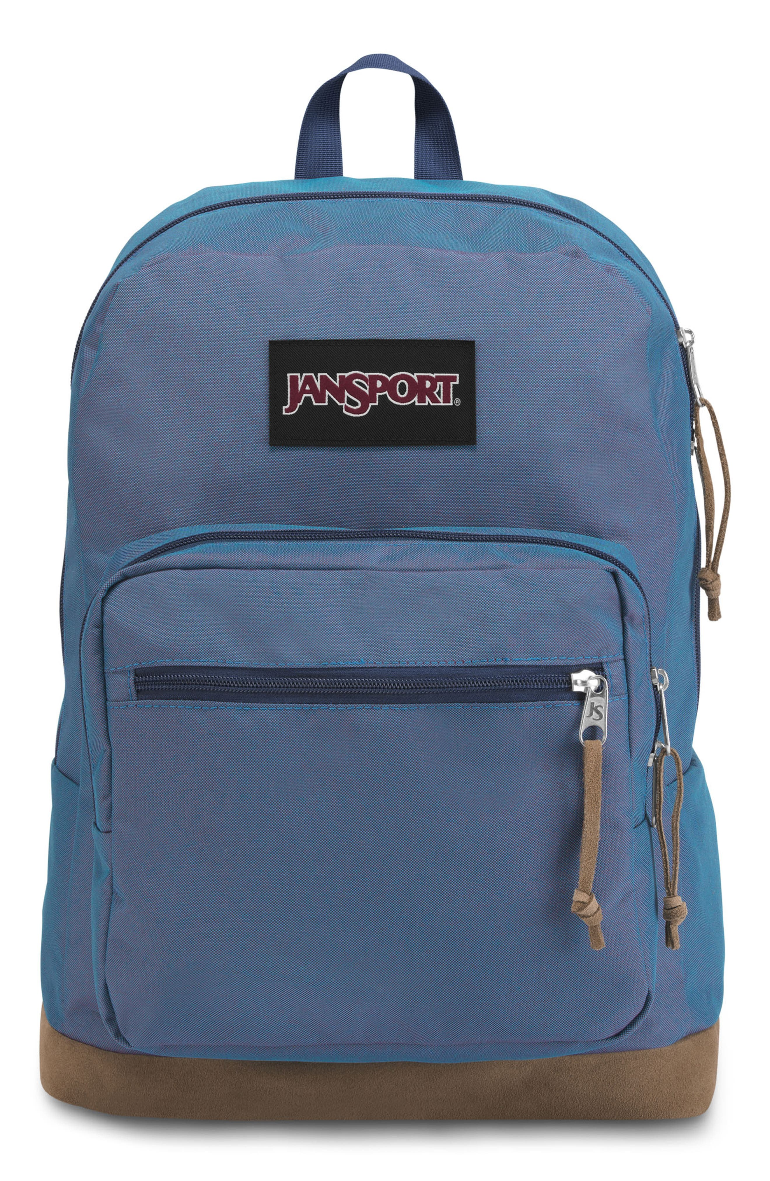 JANSPORT Right Pack Digital Edition Backpack - Blue in Blue Jay Yarn Dye