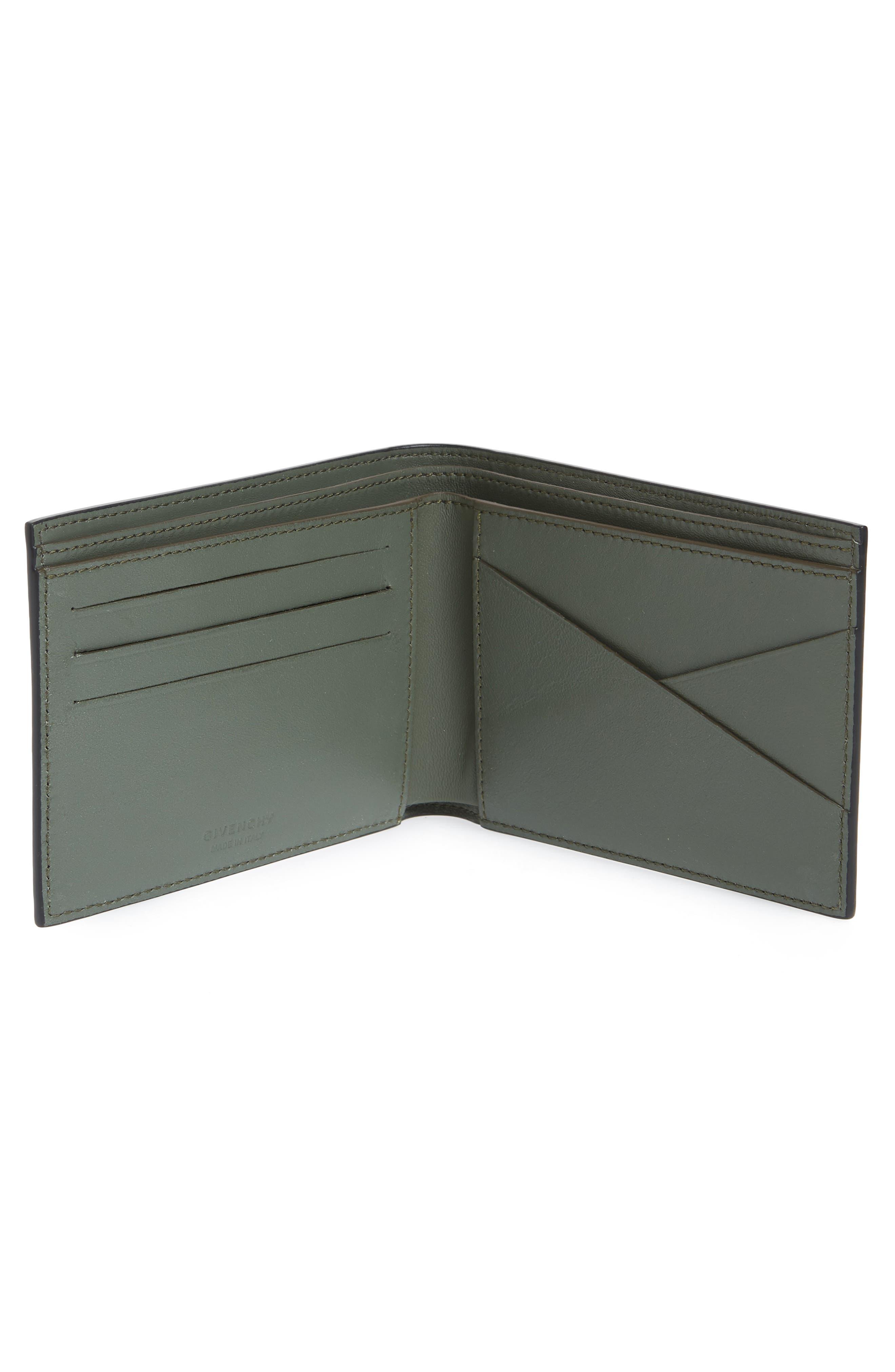 Embossed 4G Leather Bifold Wallet,                             Alternate thumbnail 2, color,                             BLACK/ KHAKI