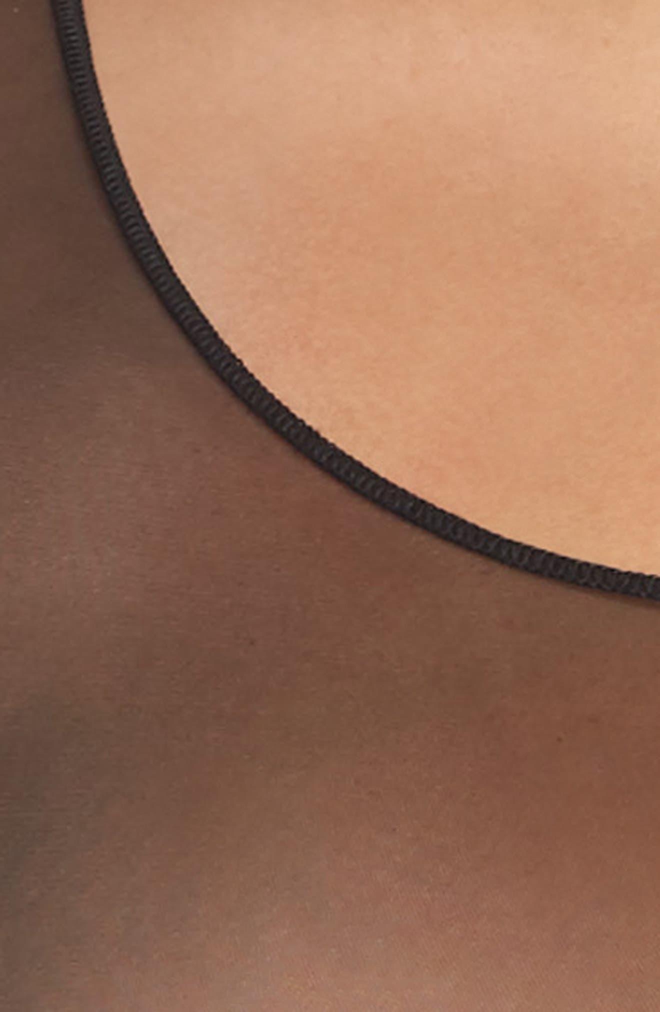 Thong Bodysuit,                             Alternate thumbnail 4, color,                             VERY BLACK