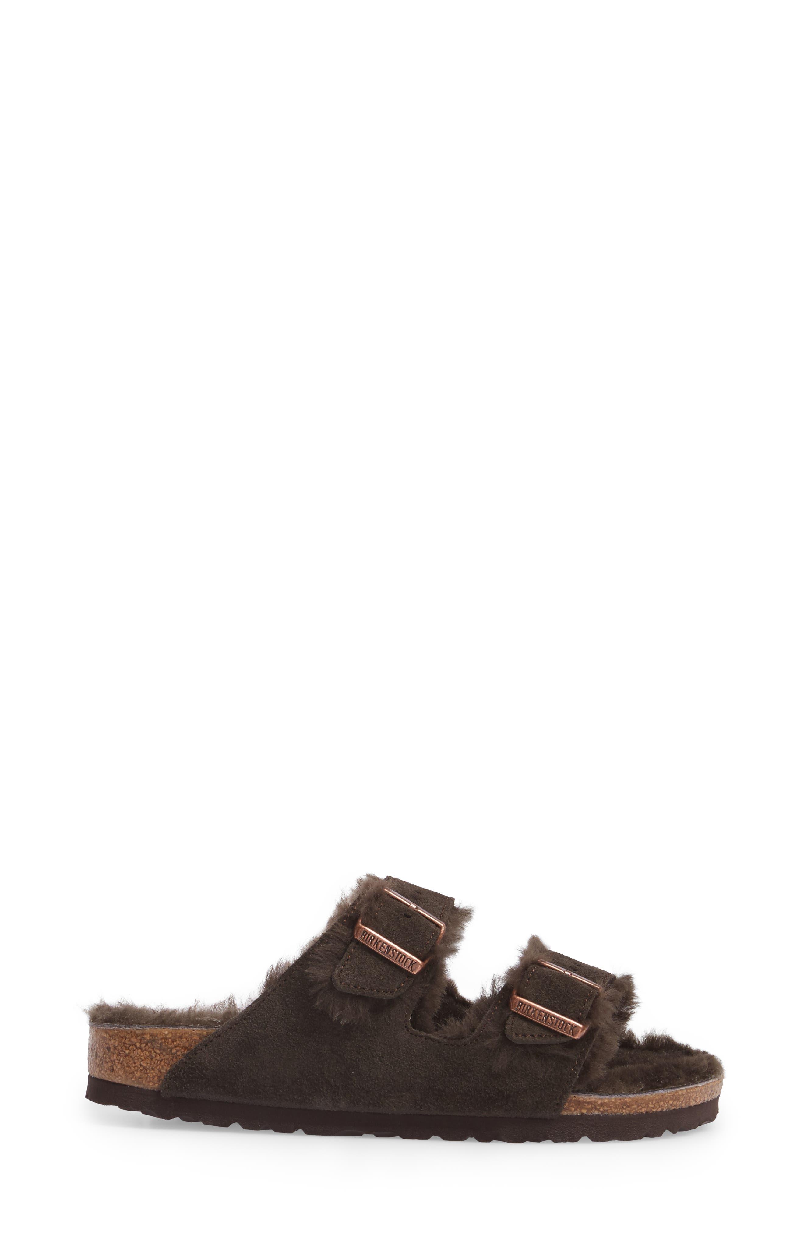 Arizona Genuine Shearling Lined Sandal,                             Alternate thumbnail 3, color,                             200