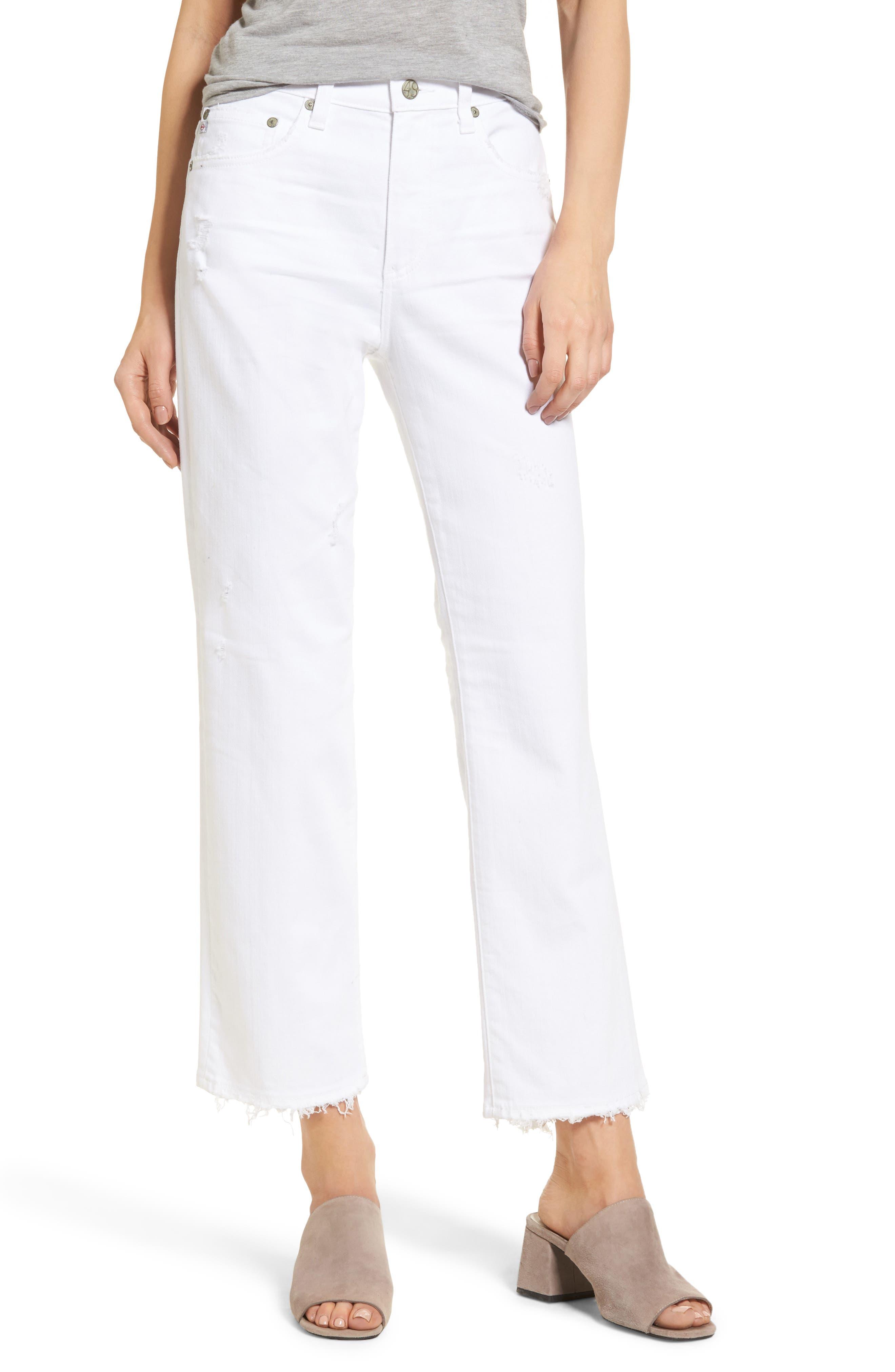 The Rhett High Waist Crop Jeans,                         Main,                         color, 160