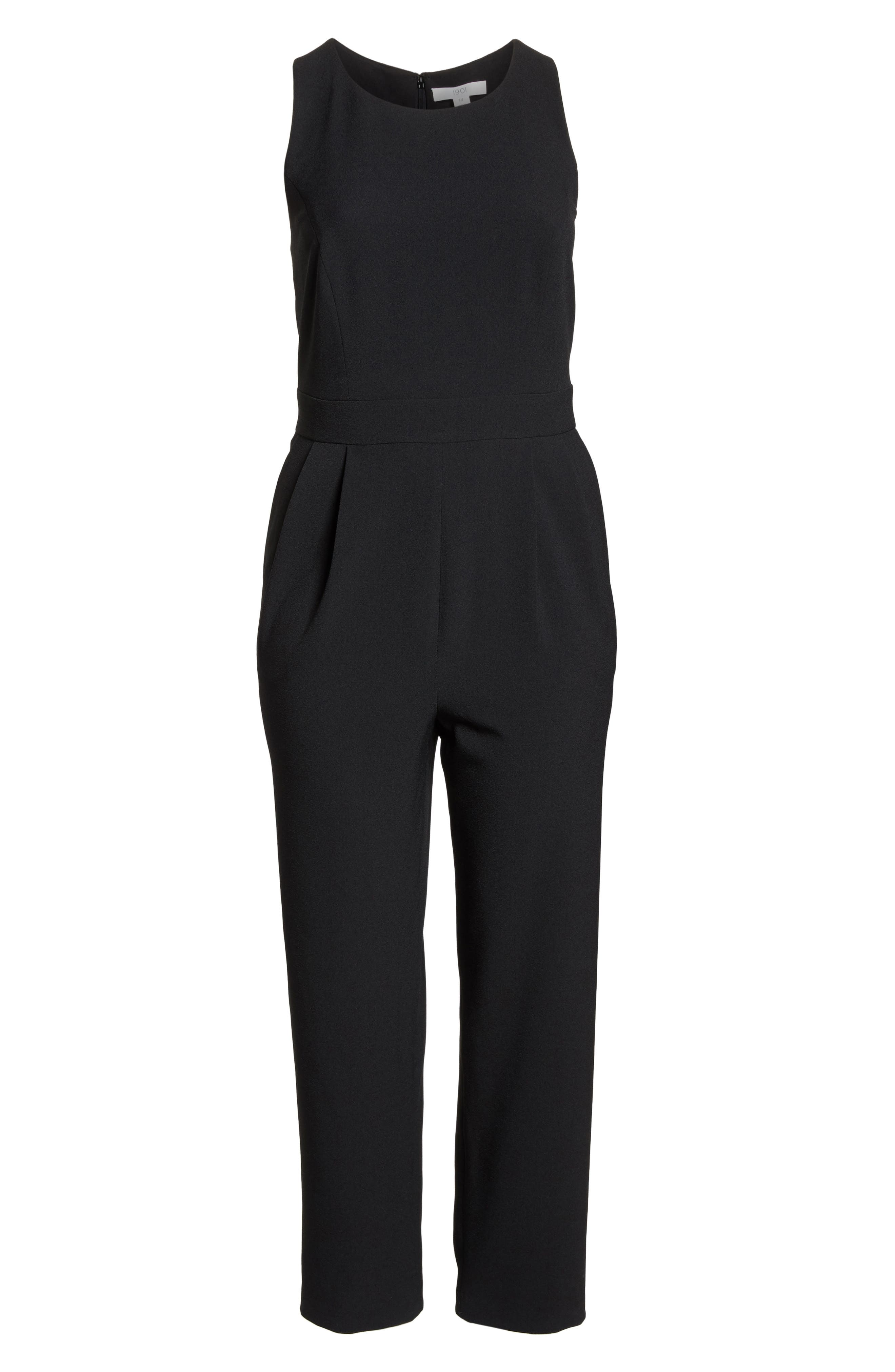 Bow Back Jumpsuit,                             Alternate thumbnail 7, color,                             001