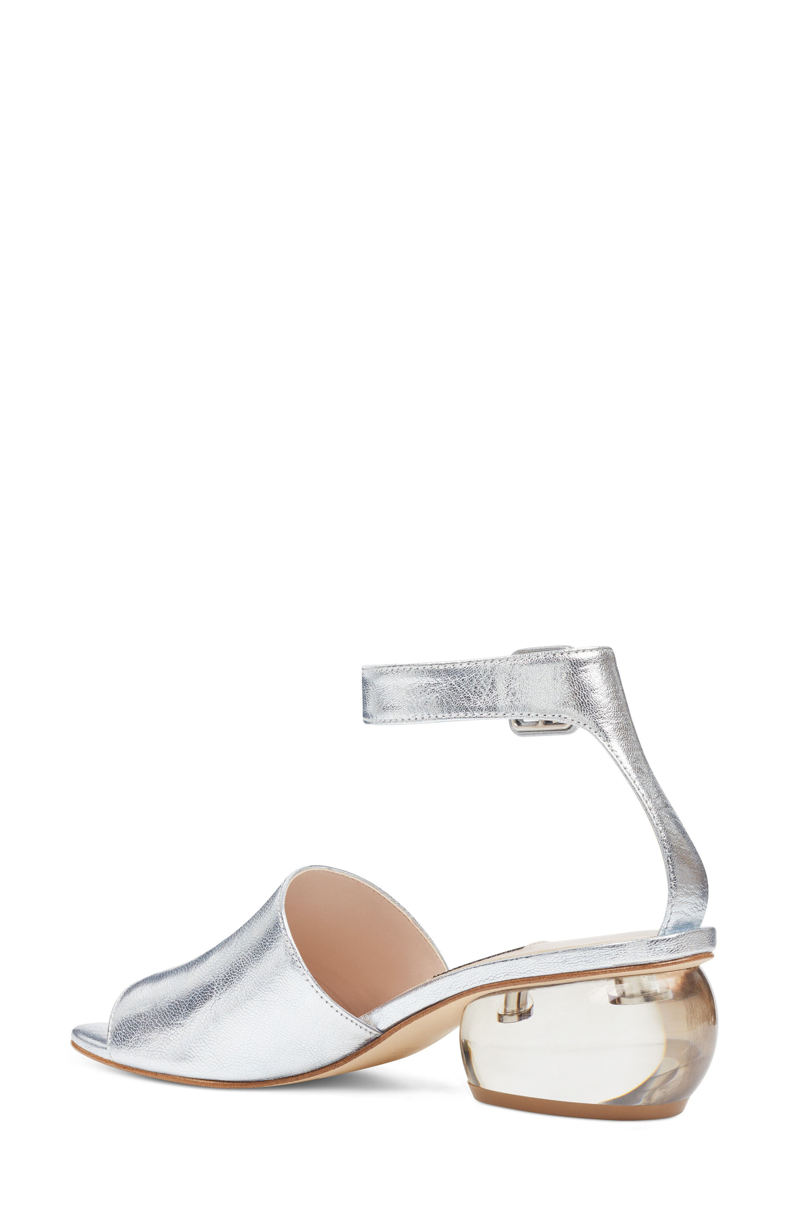 Enyo Clear Heel Sandal,                             Alternate thumbnail 4, color,