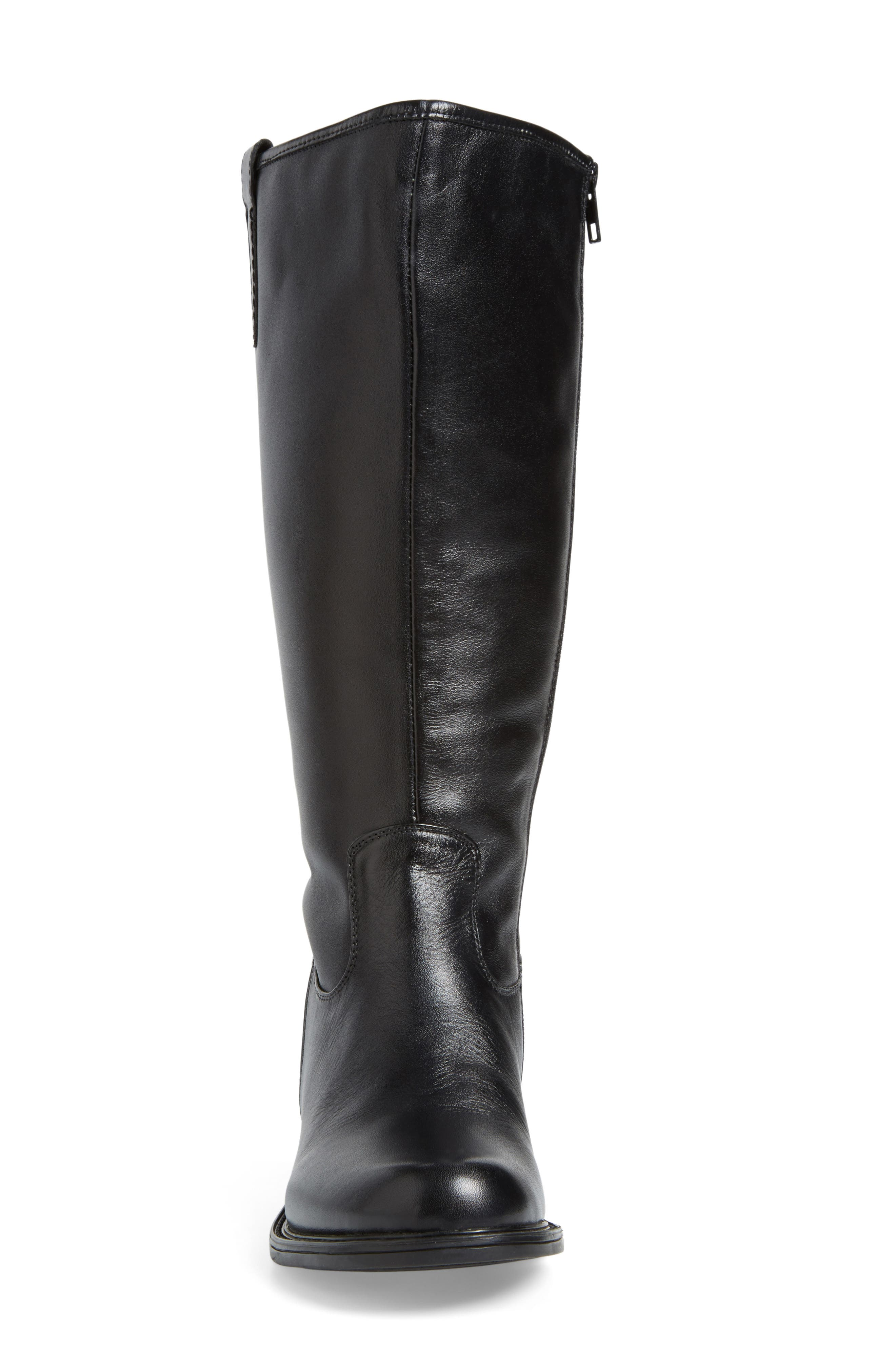 'Best' Calfskin Leather & Suede Boot,                             Alternate thumbnail 6, color,