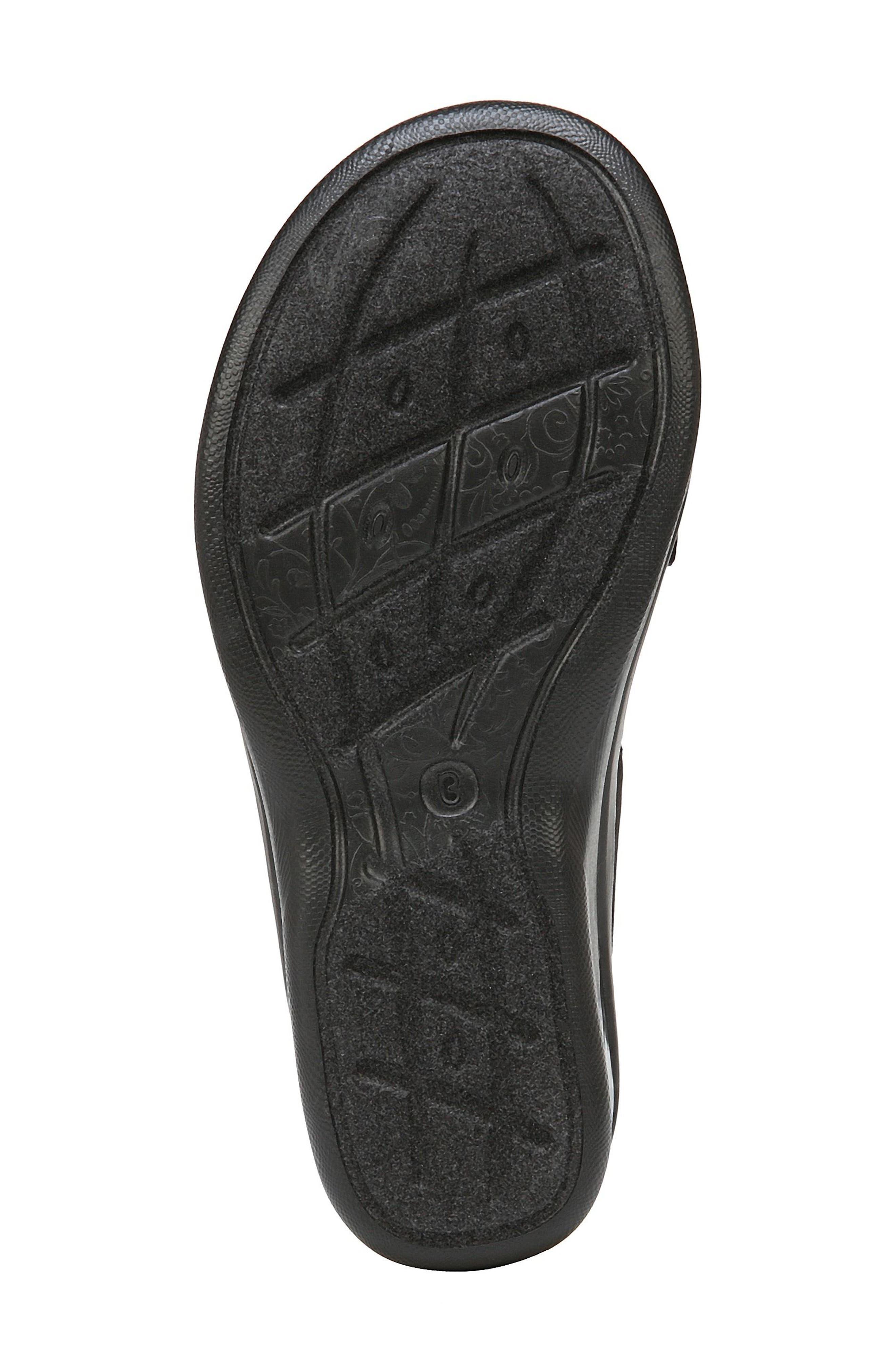Sunset Wedge Sandal,                             Alternate thumbnail 5, color,                             BLACK FABRIC