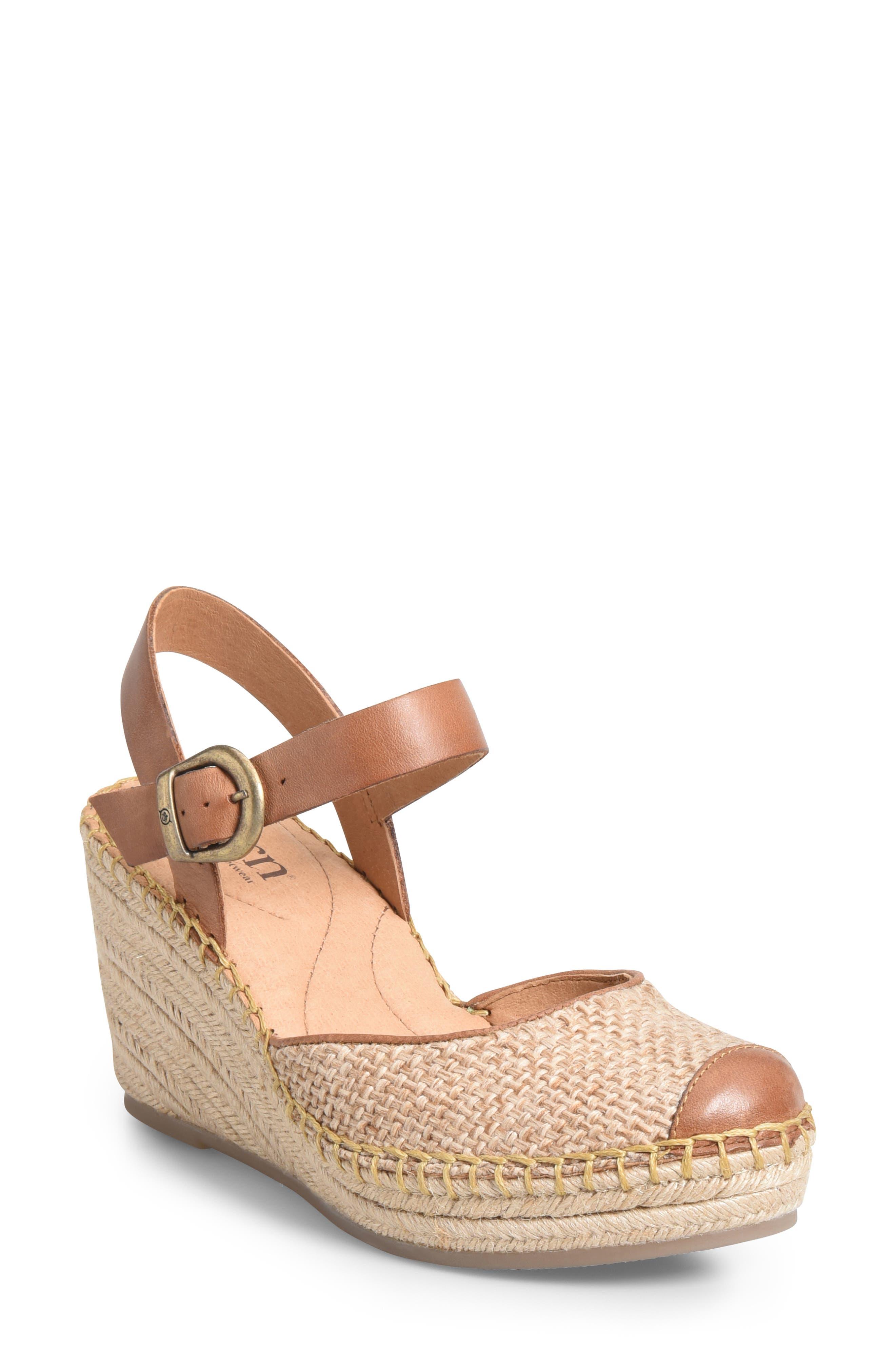 B?rn Guadalupe Wedge Sandal, Brown