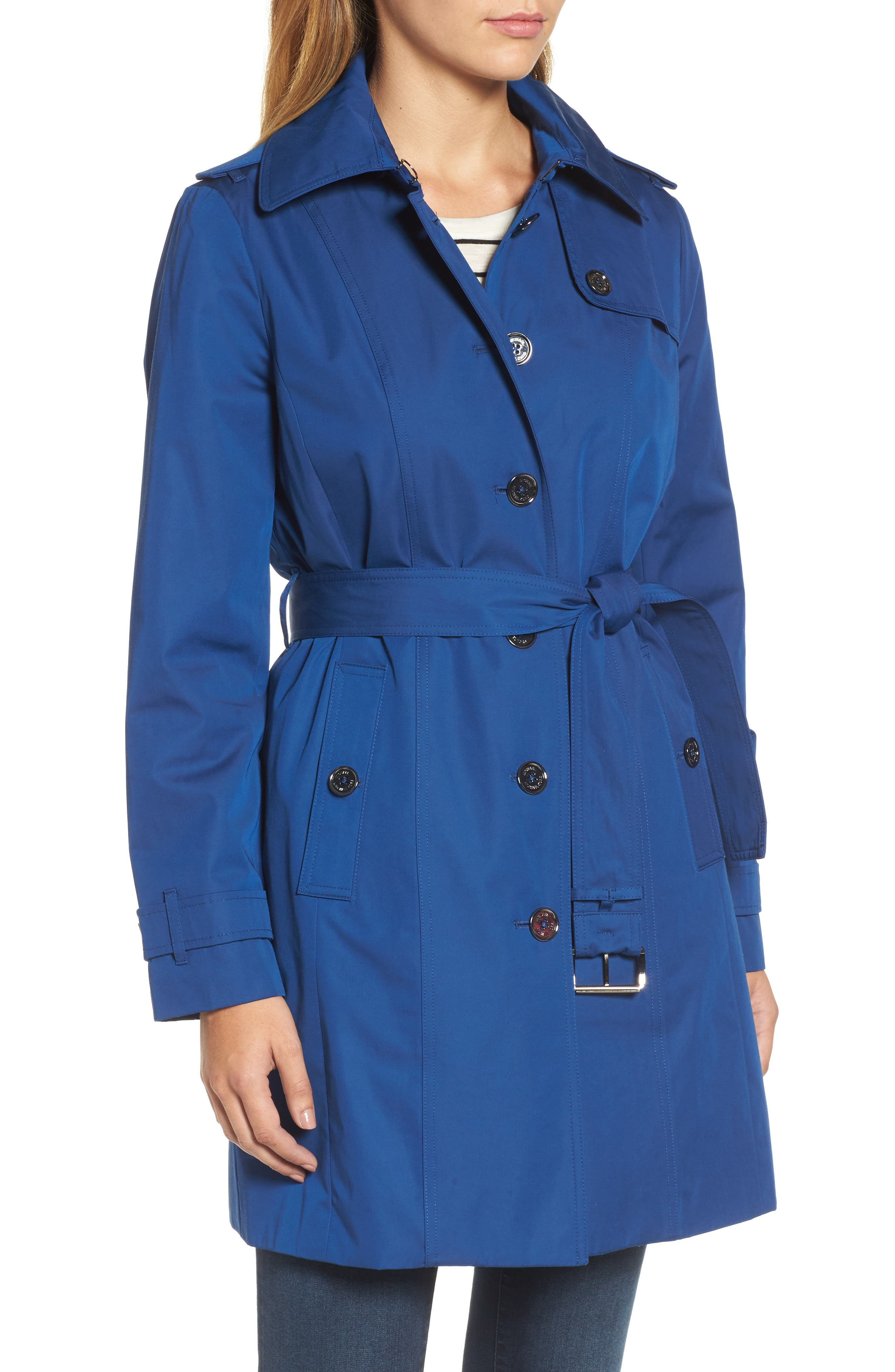Core Trench Coat with Removable Hood & Liner,                             Alternate thumbnail 4, color,                             431