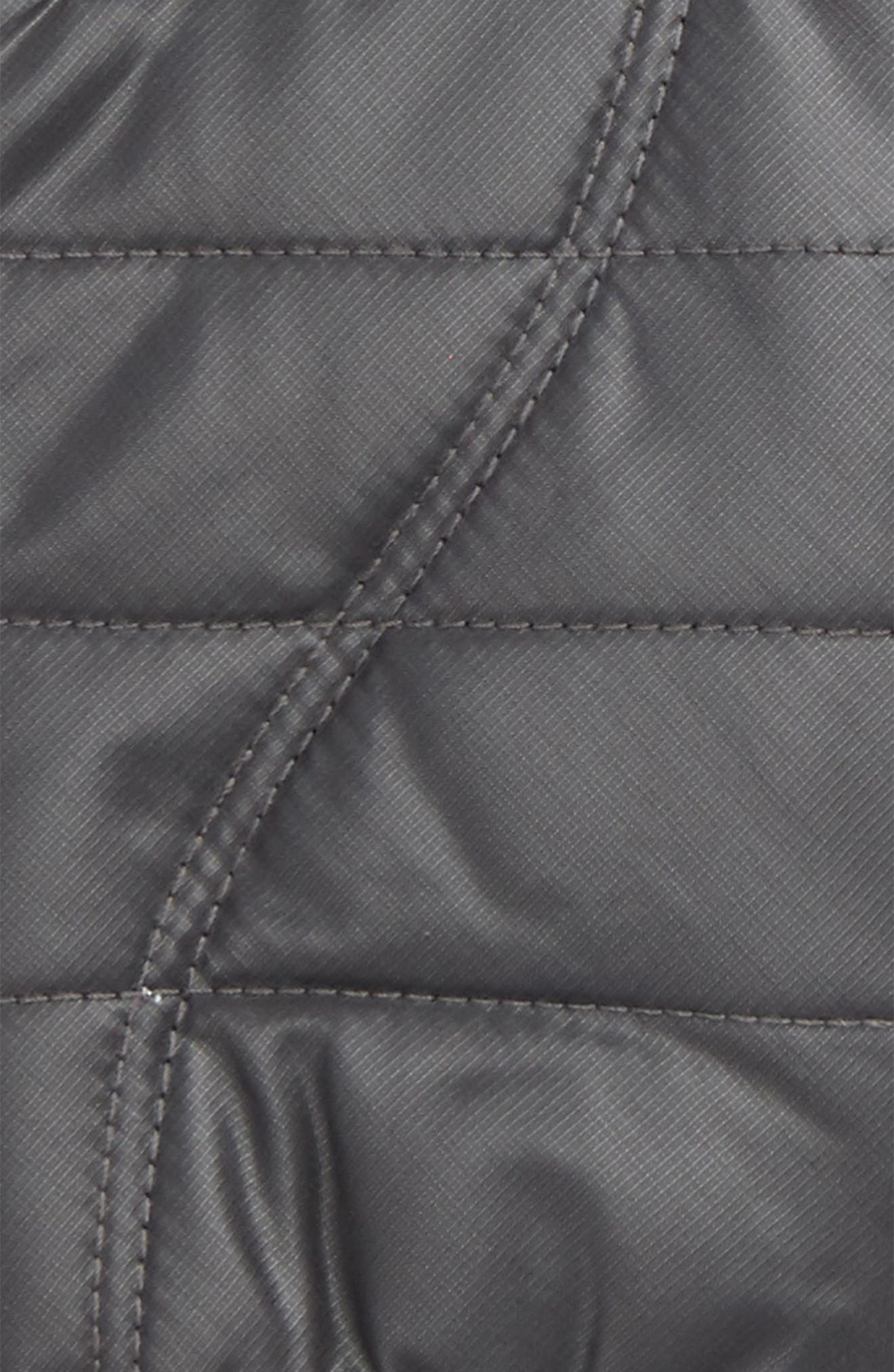 Quilted Touchscreen Compatible Gloves,                             Alternate thumbnail 3, color,                             DARK GREY