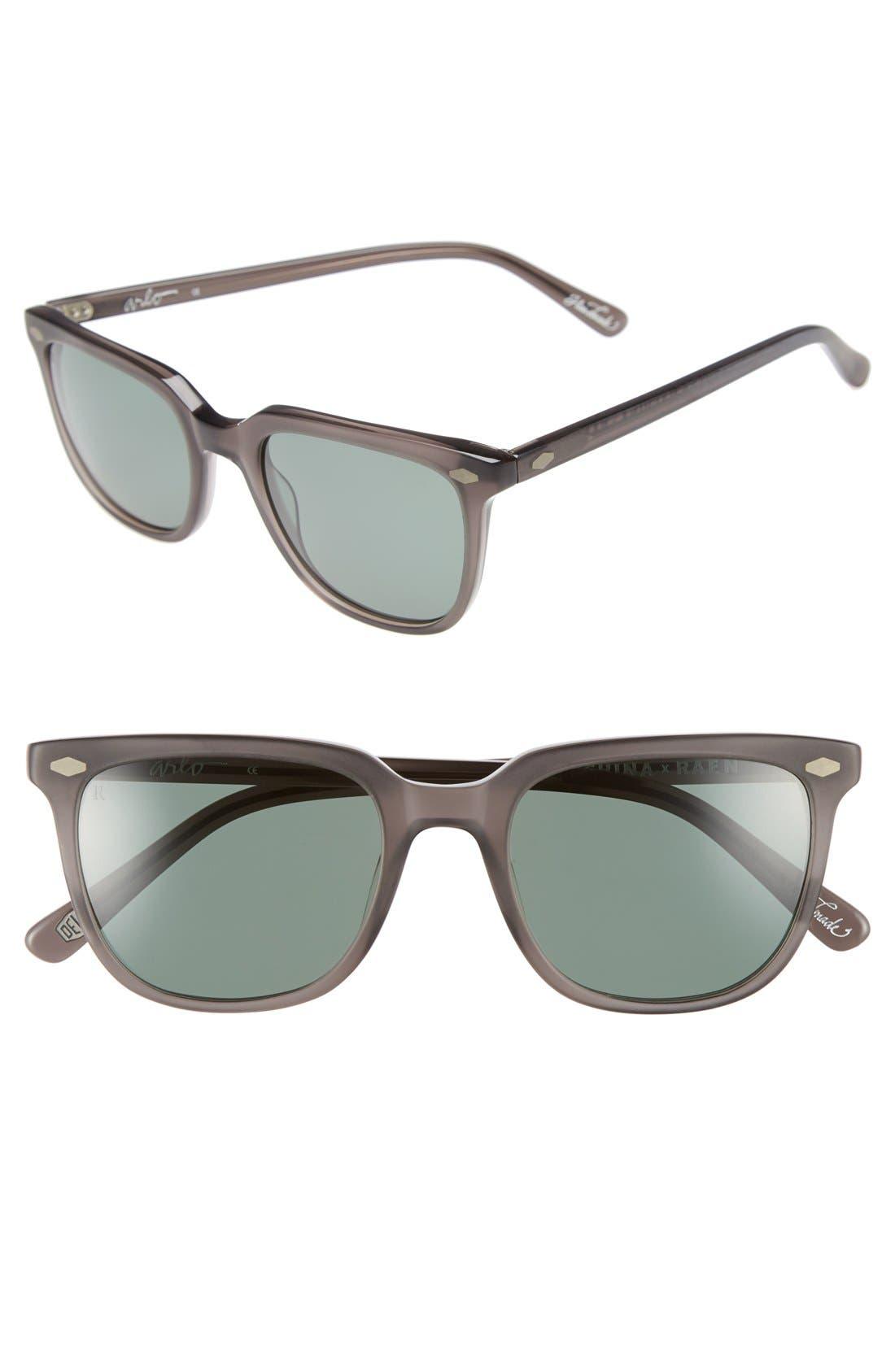 'Arlo' 53mm Polarized Sunglasses,                             Main thumbnail 1, color,                             030