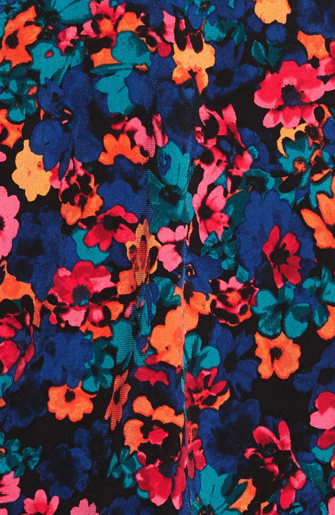 Floral Field Ruched Handkerchief Top,                             Alternate thumbnail 5, color,