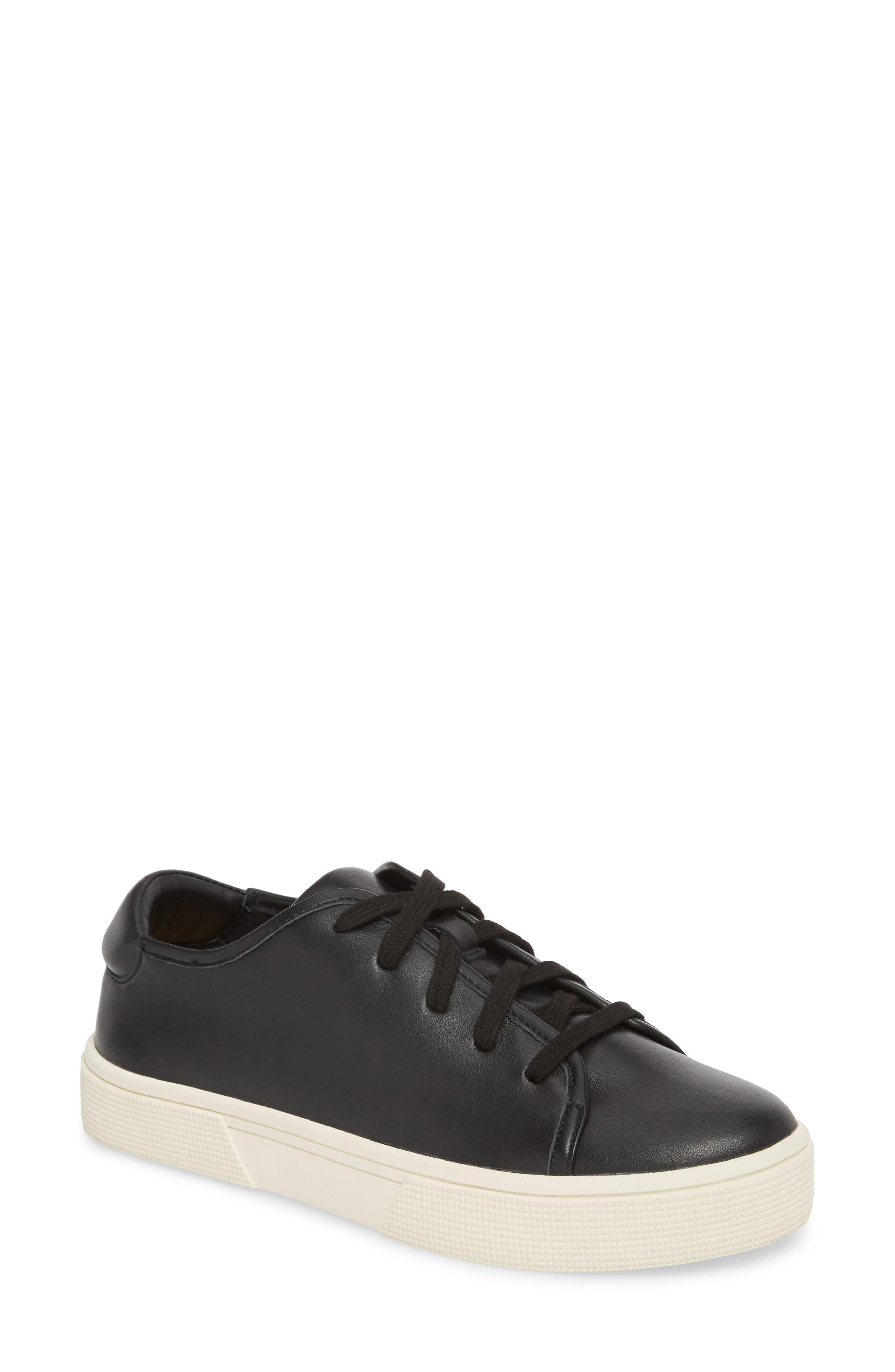 Norvin Sneaker,                         Main,                         color, BLACK LEATHER