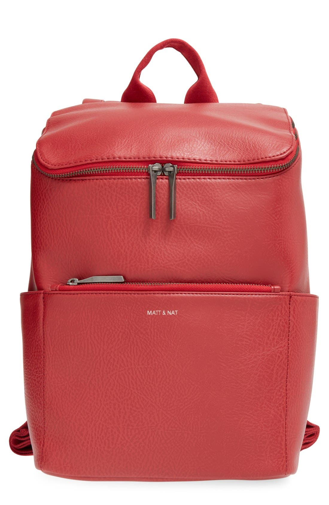 'Brave' Faux Leather Backpack,                             Main thumbnail 19, color,