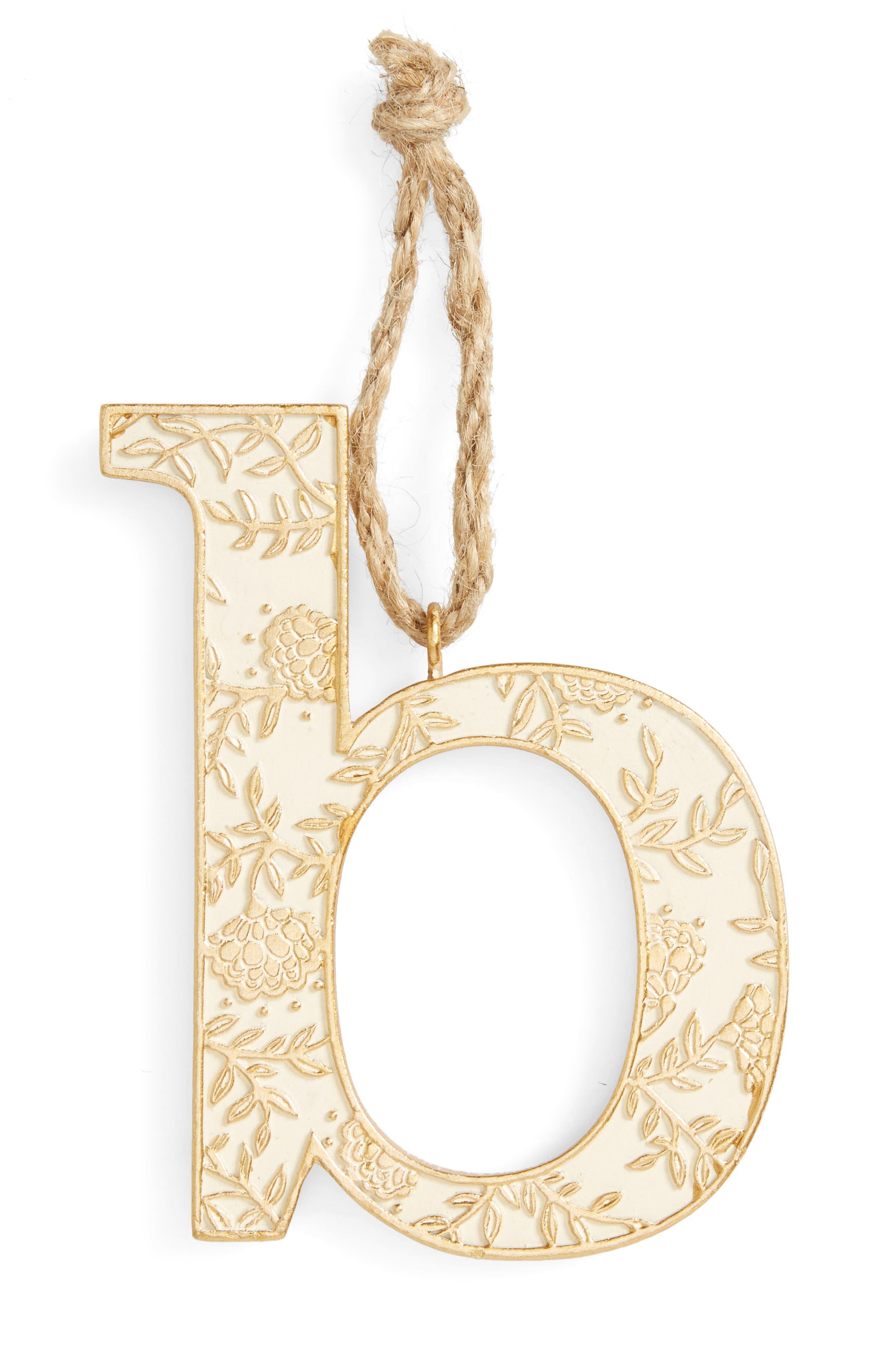 Letter Ornament,                             Main thumbnail 2, color,