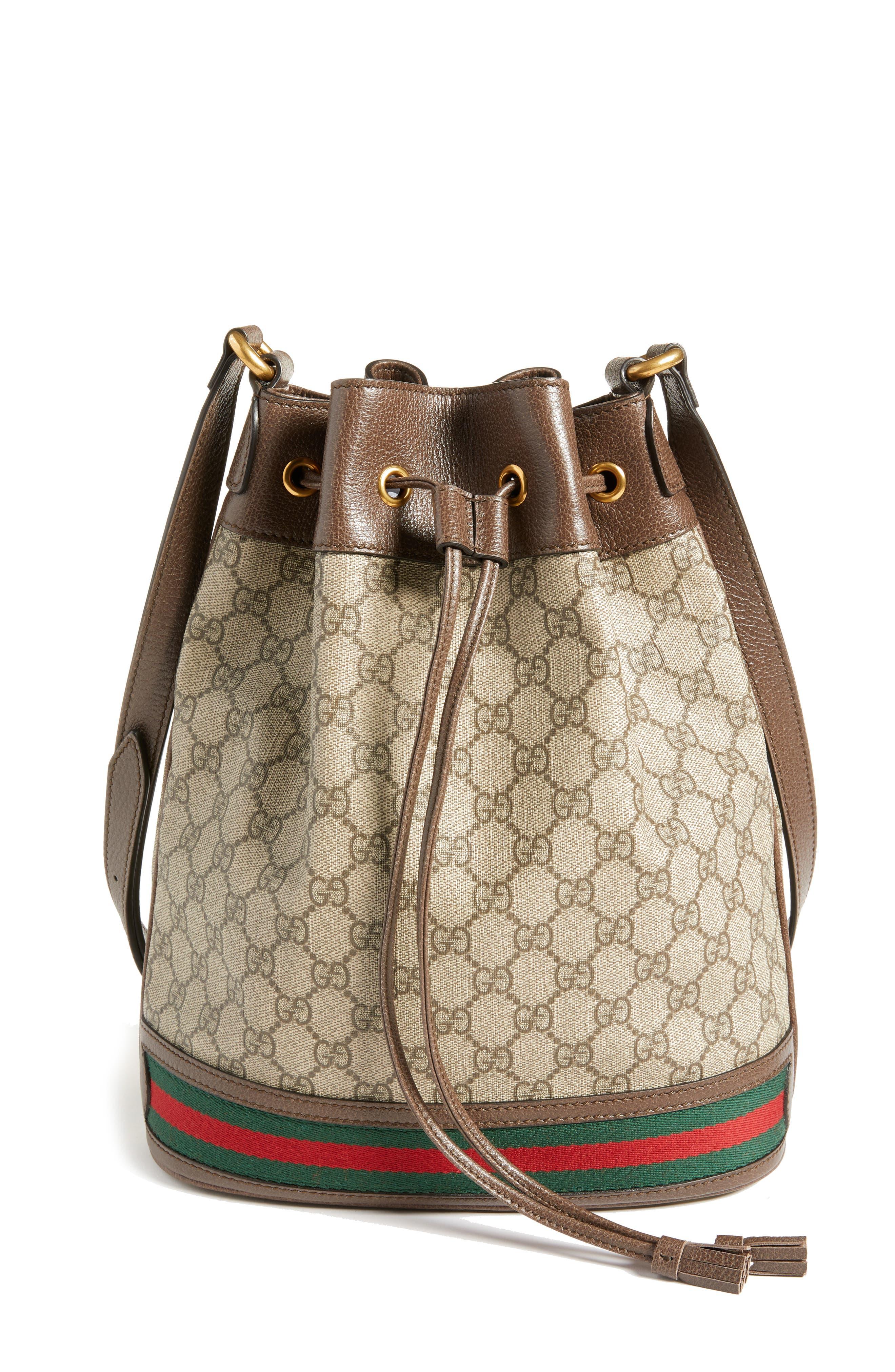 Ophidia GG Supreme Bucket Shoulder Bag,                             Main thumbnail 1, color,                             250