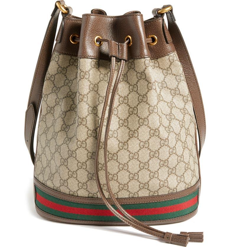 28211fce1364 Gucci Ophidia GG Supreme Bucket Shoulder Bag