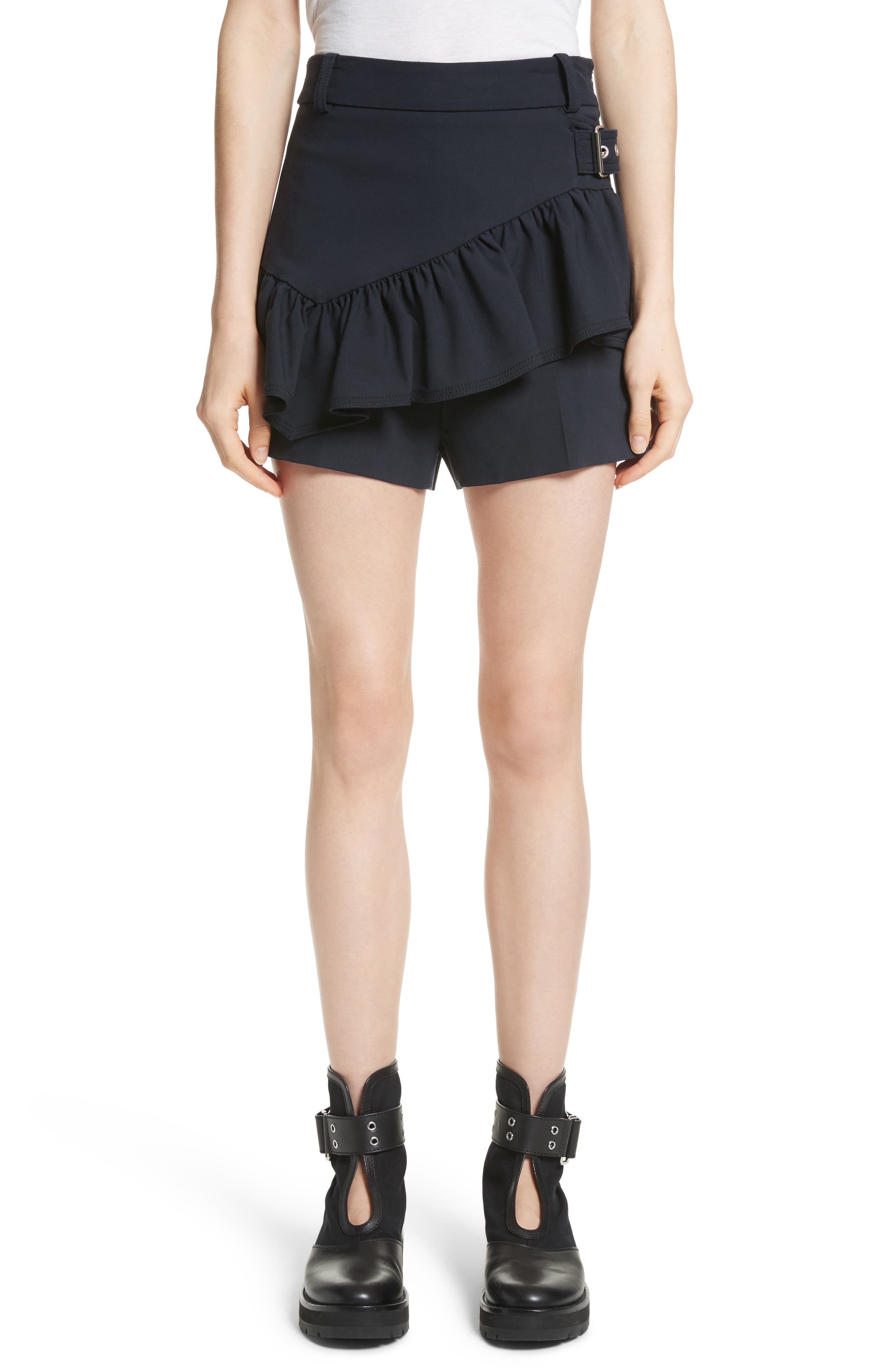Ruffle Apron Shorts,                         Main,                         color, 401