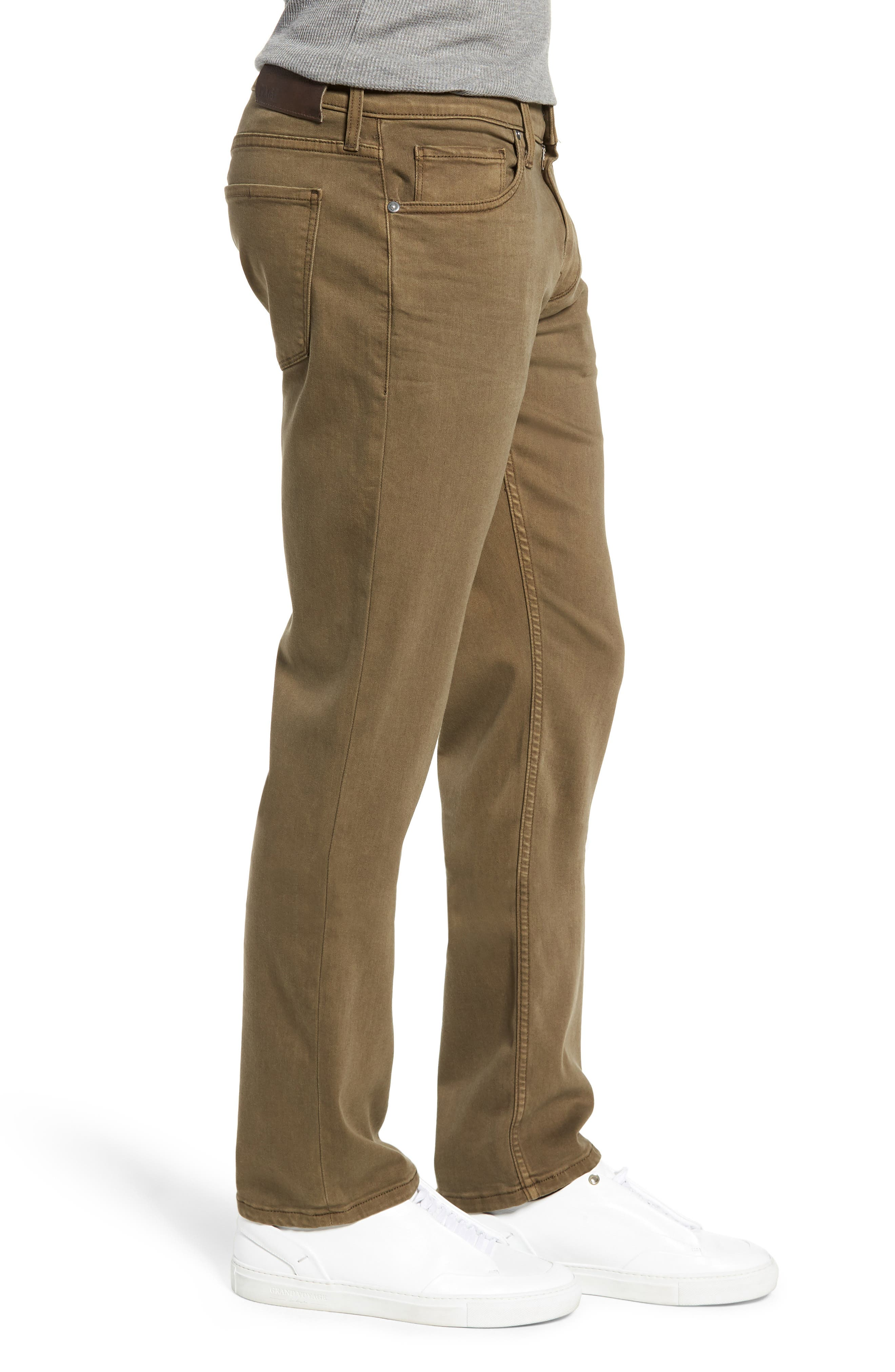 Transcend - Normandie Straight Leg Jeans,                             Alternate thumbnail 3, color,                             VINTAGE ARTICHOKE