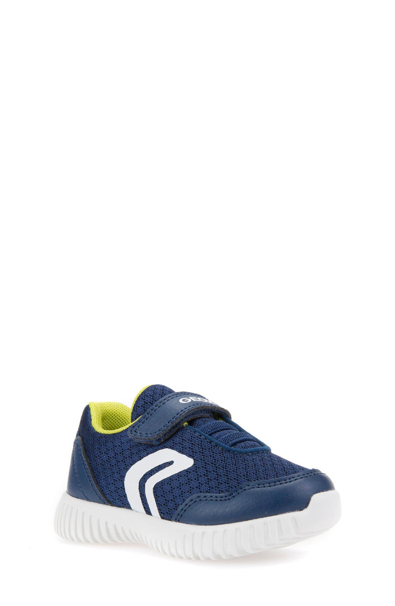 Waviness Sneaker,                         Main,                         color, NAVY/ LIME