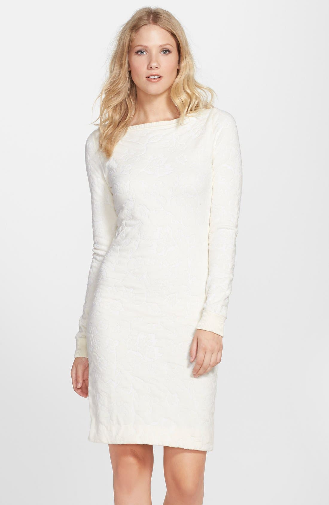 CYNTHIA STEFFE Textured Long Sleeve Sweater Dress, Main, color, 900