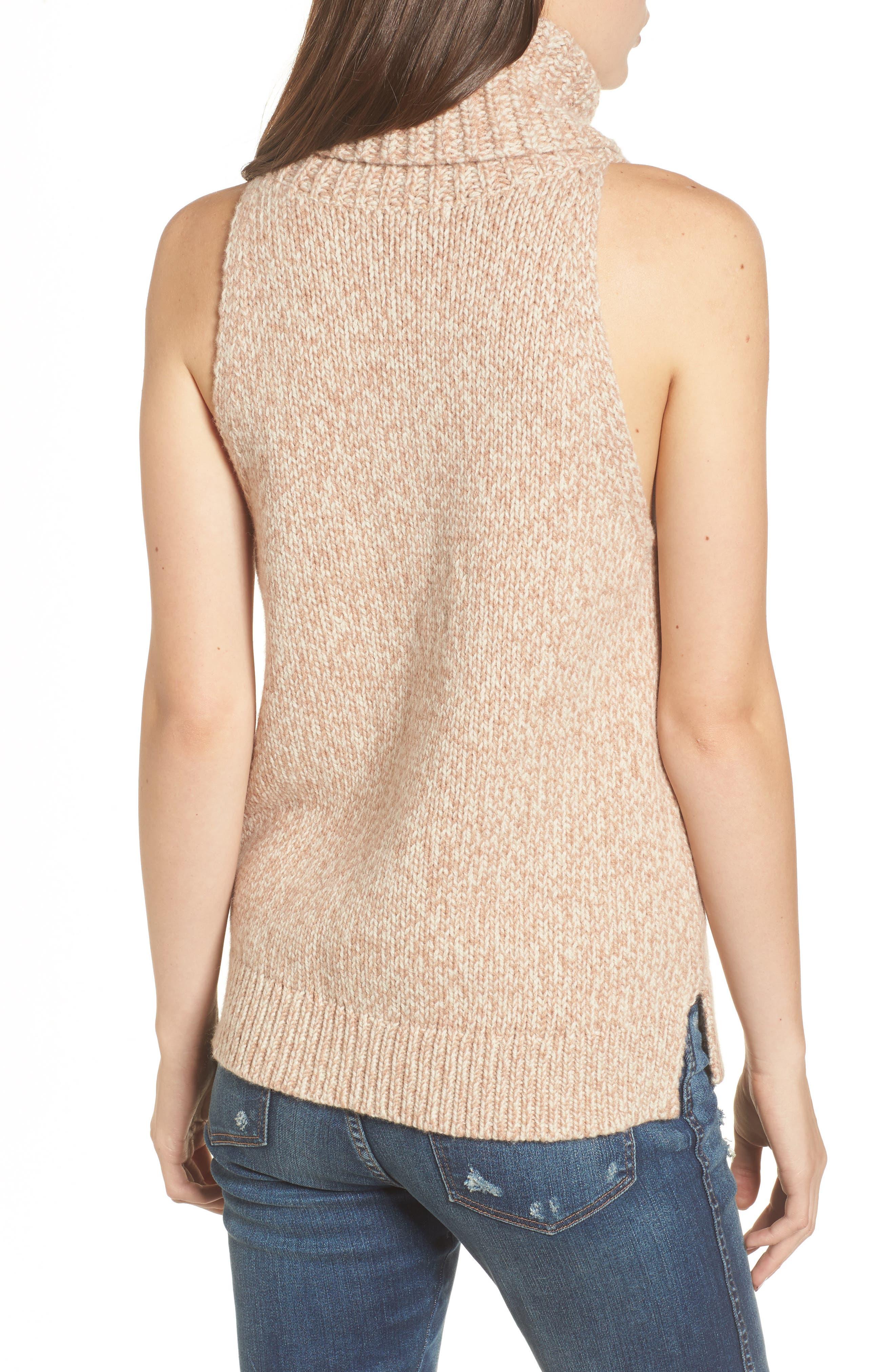 Marled Sleeveless Turtleneck Sweater,                             Alternate thumbnail 2, color,                             201