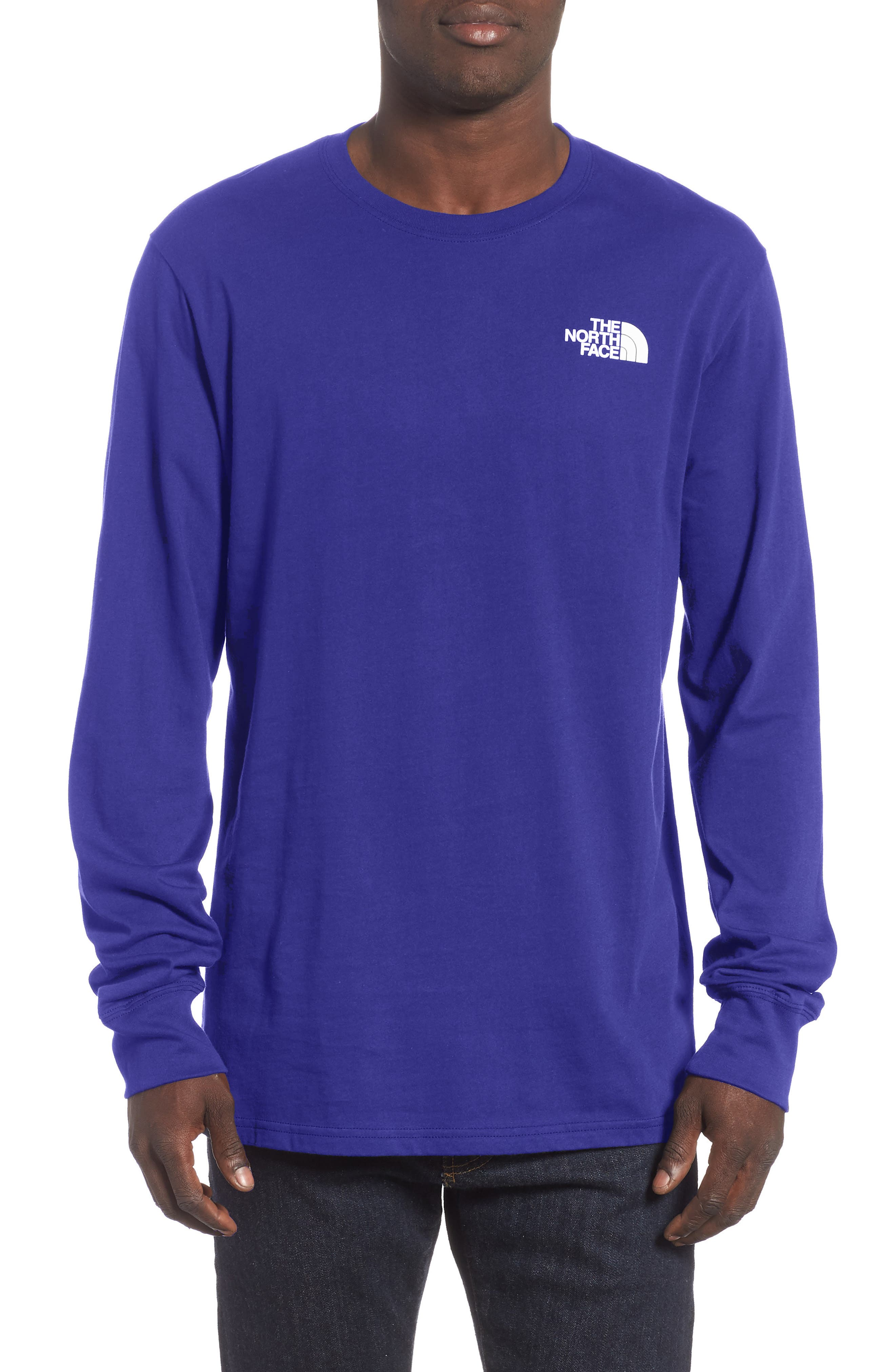 The North Face Red Box Long Sleeve T-Shirt, Blue