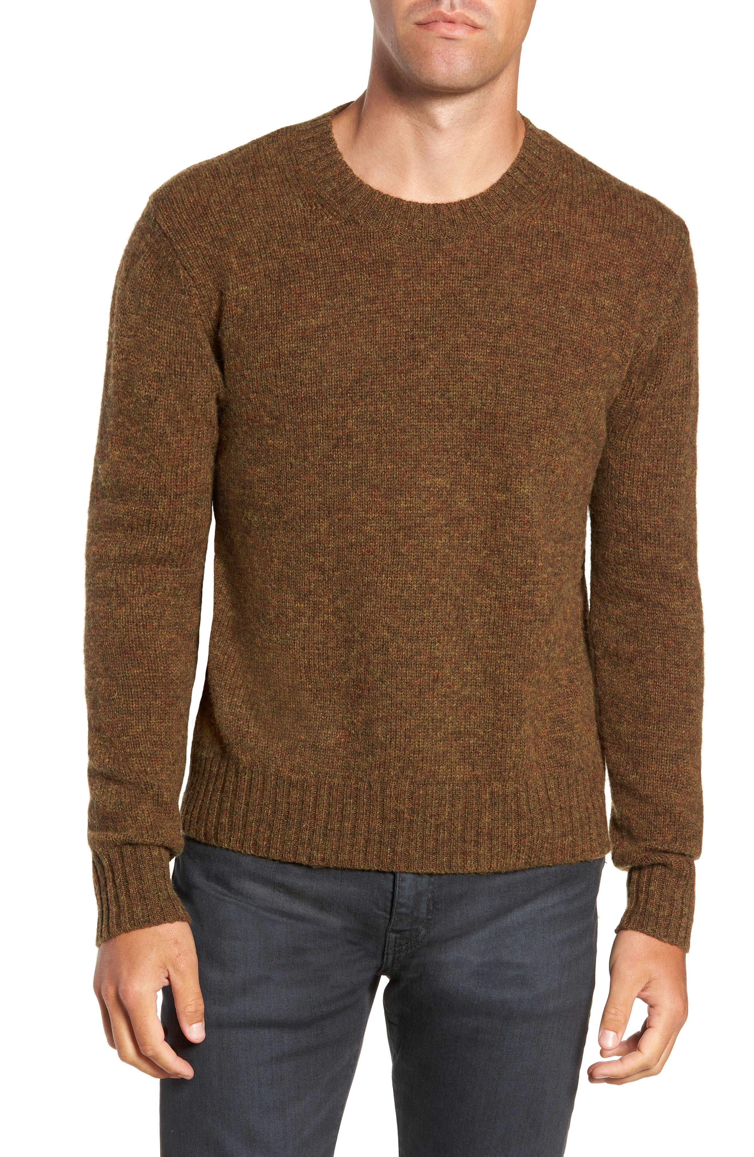Frye Aiden Shetland Crewneck Sweater, Blue