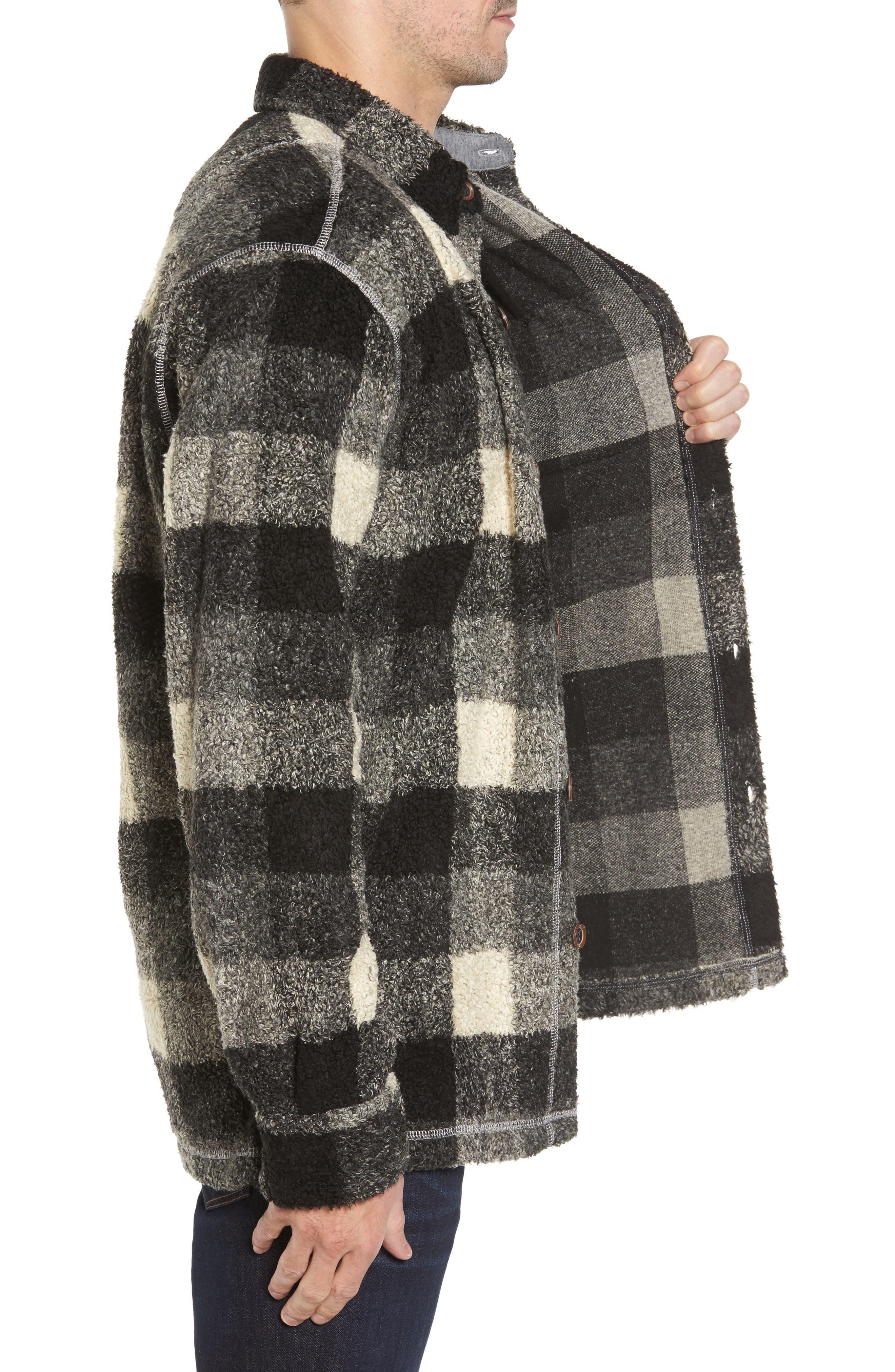Textured Buffalo Check Shirt Jacket,                             Alternate thumbnail 3, color,                             020