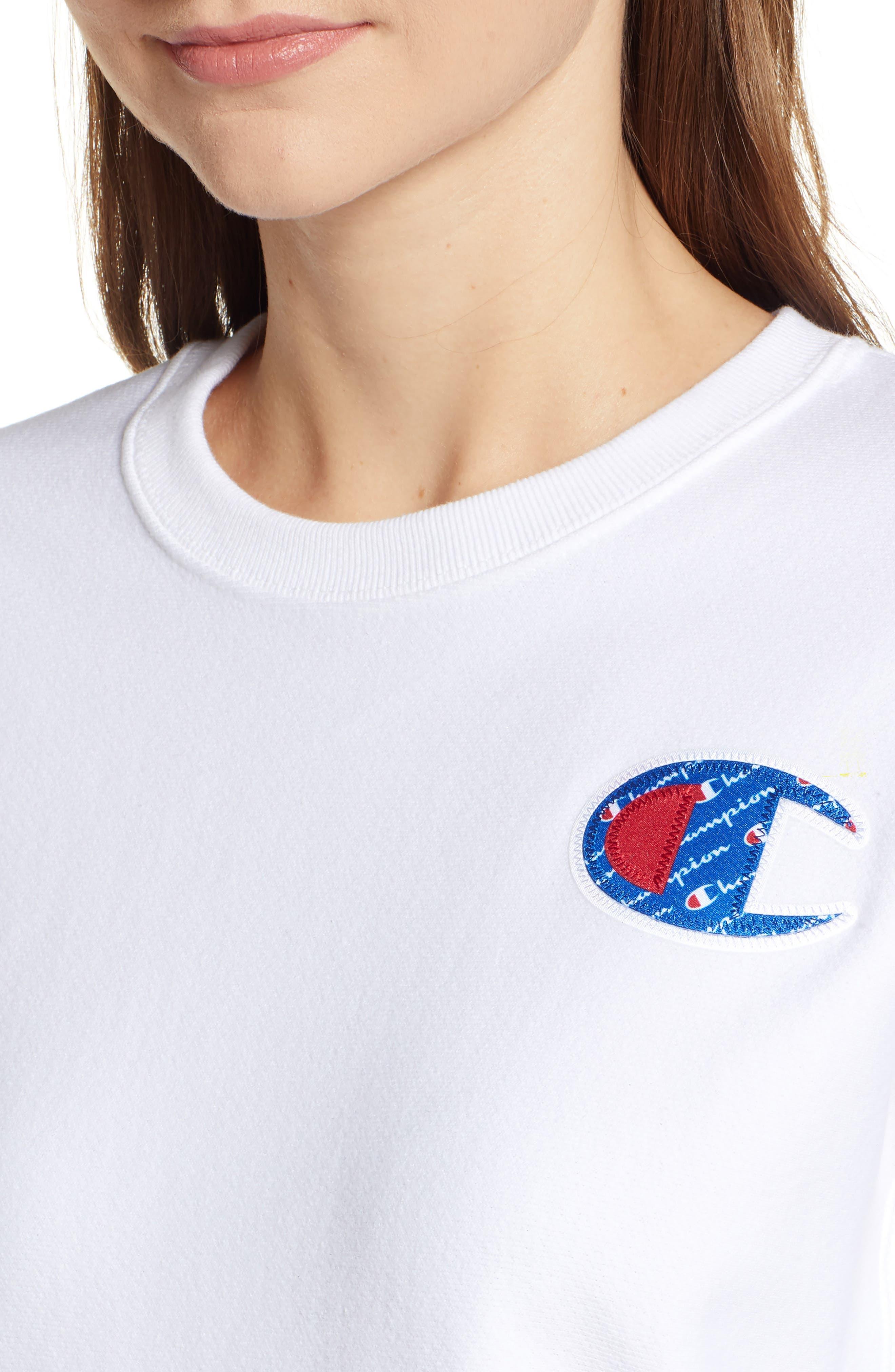 Sublimated Logo Sweatshirt,                             Alternate thumbnail 5, color,                             WHITE