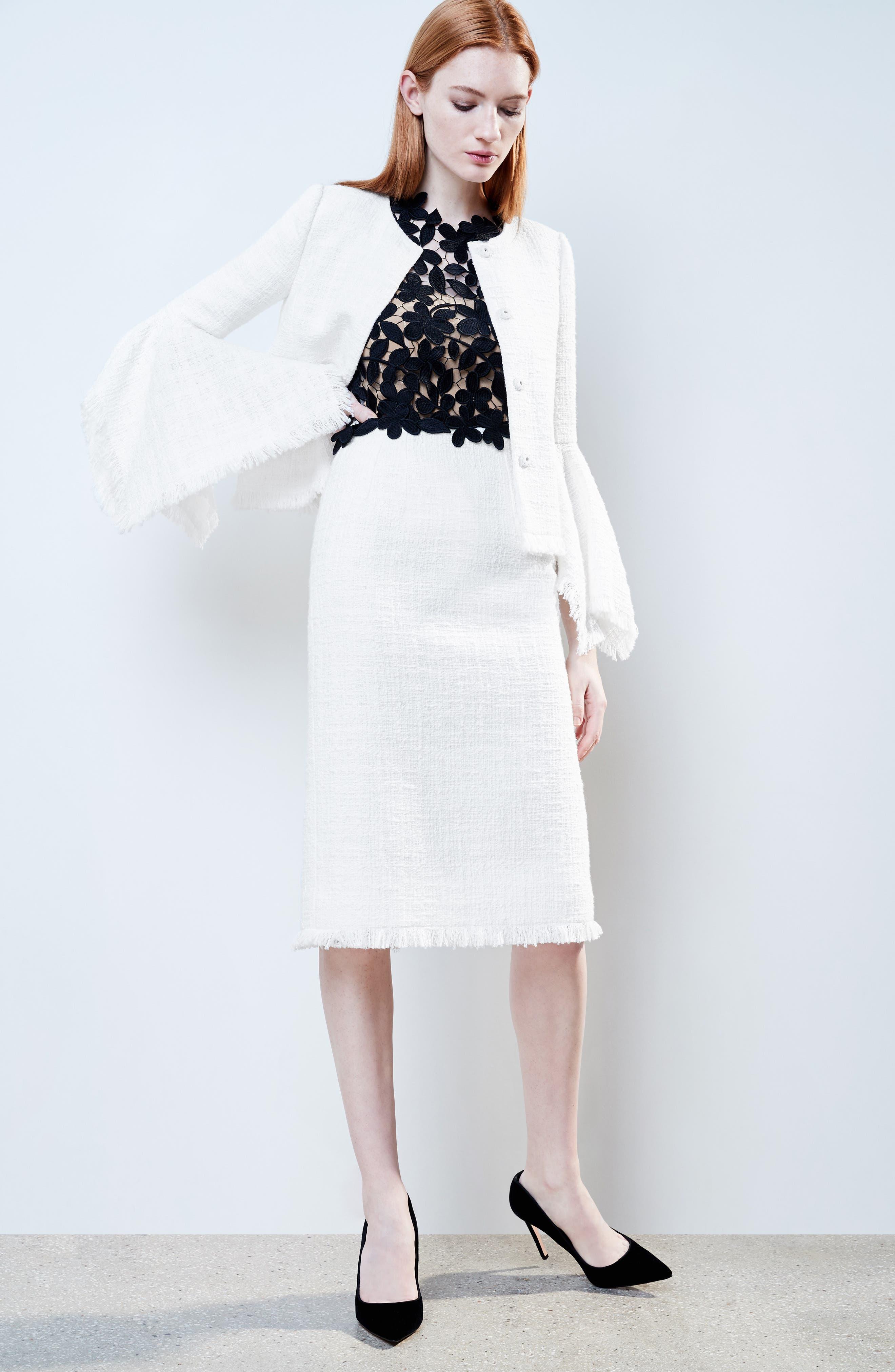 Lace Bodice Sheath Dress,                             Alternate thumbnail 8, color,
