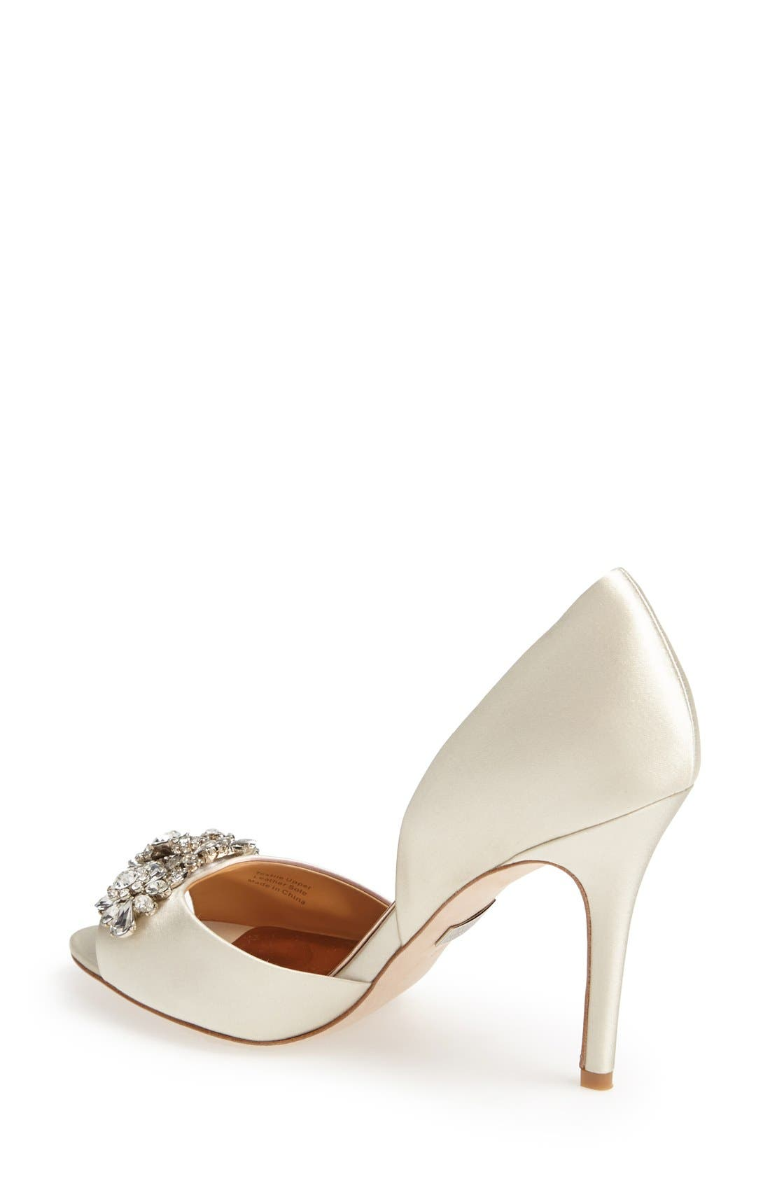 Badgley Mischka 'Giana' Satin d'Orsay Pump,                             Alternate thumbnail 2, color,                             901
