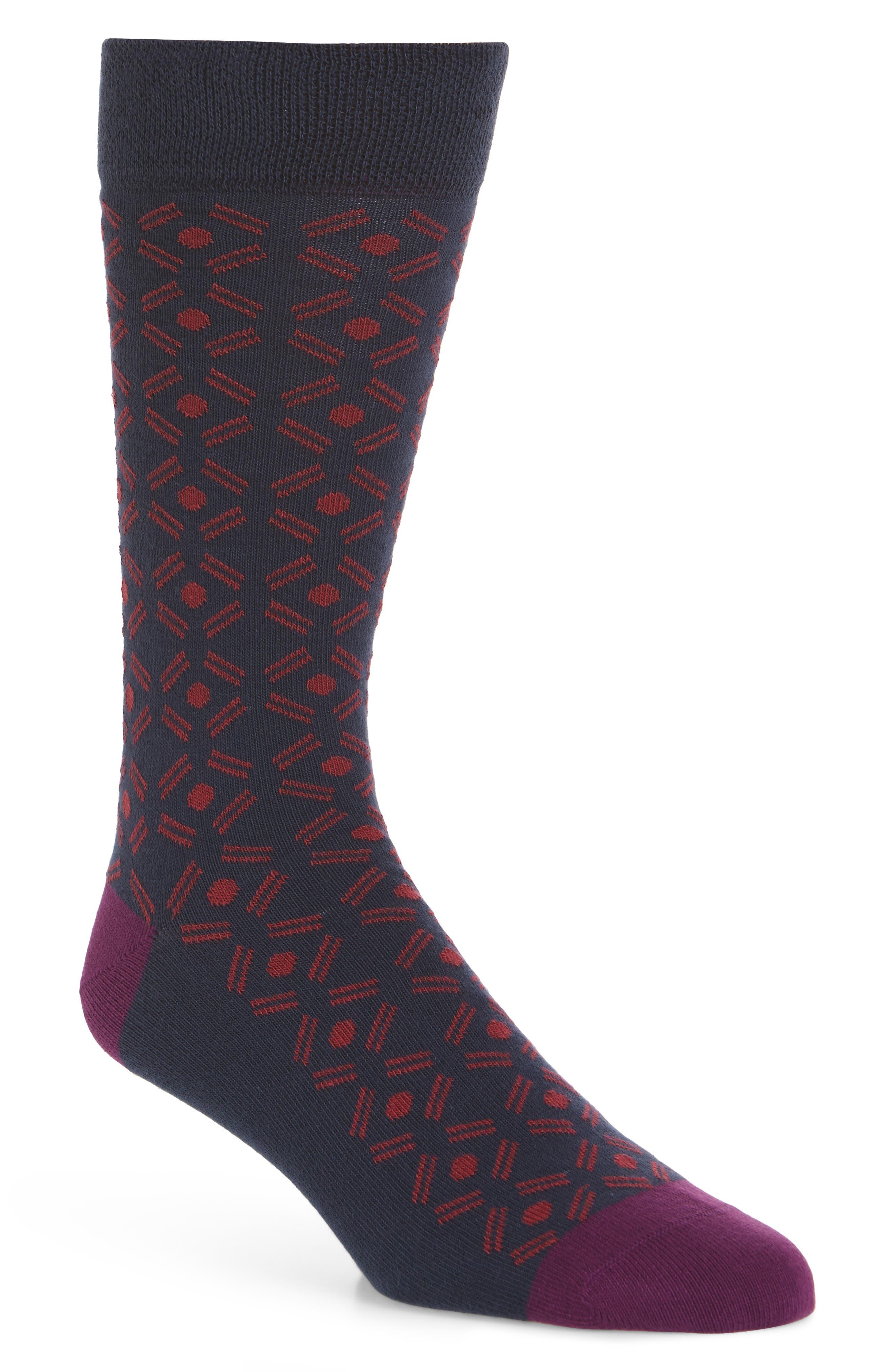 Saap Geometric Socks,                             Main thumbnail 1, color,                             410